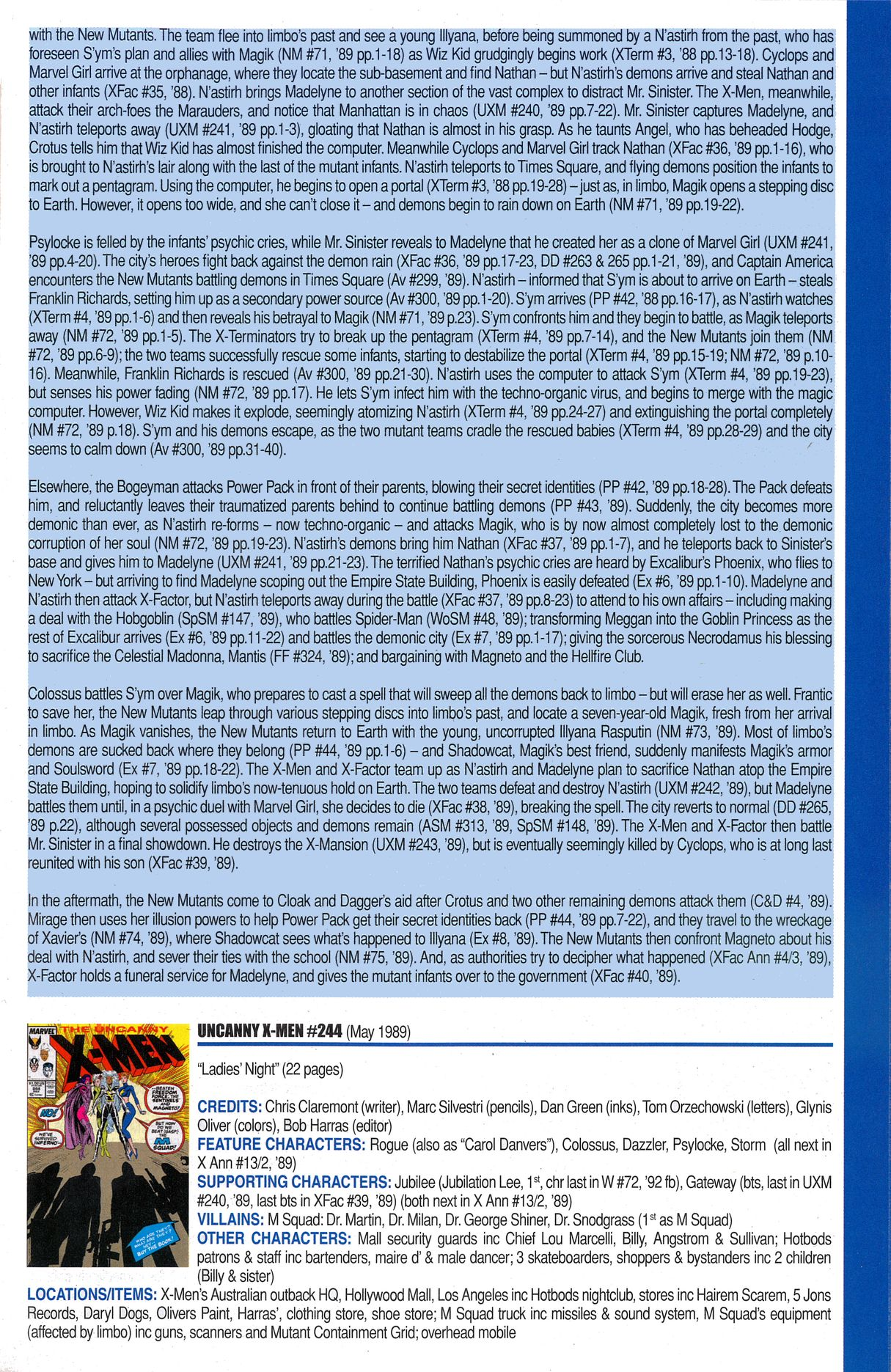 Read online Official Index to the Marvel Universe comic -  Issue #6 - 53