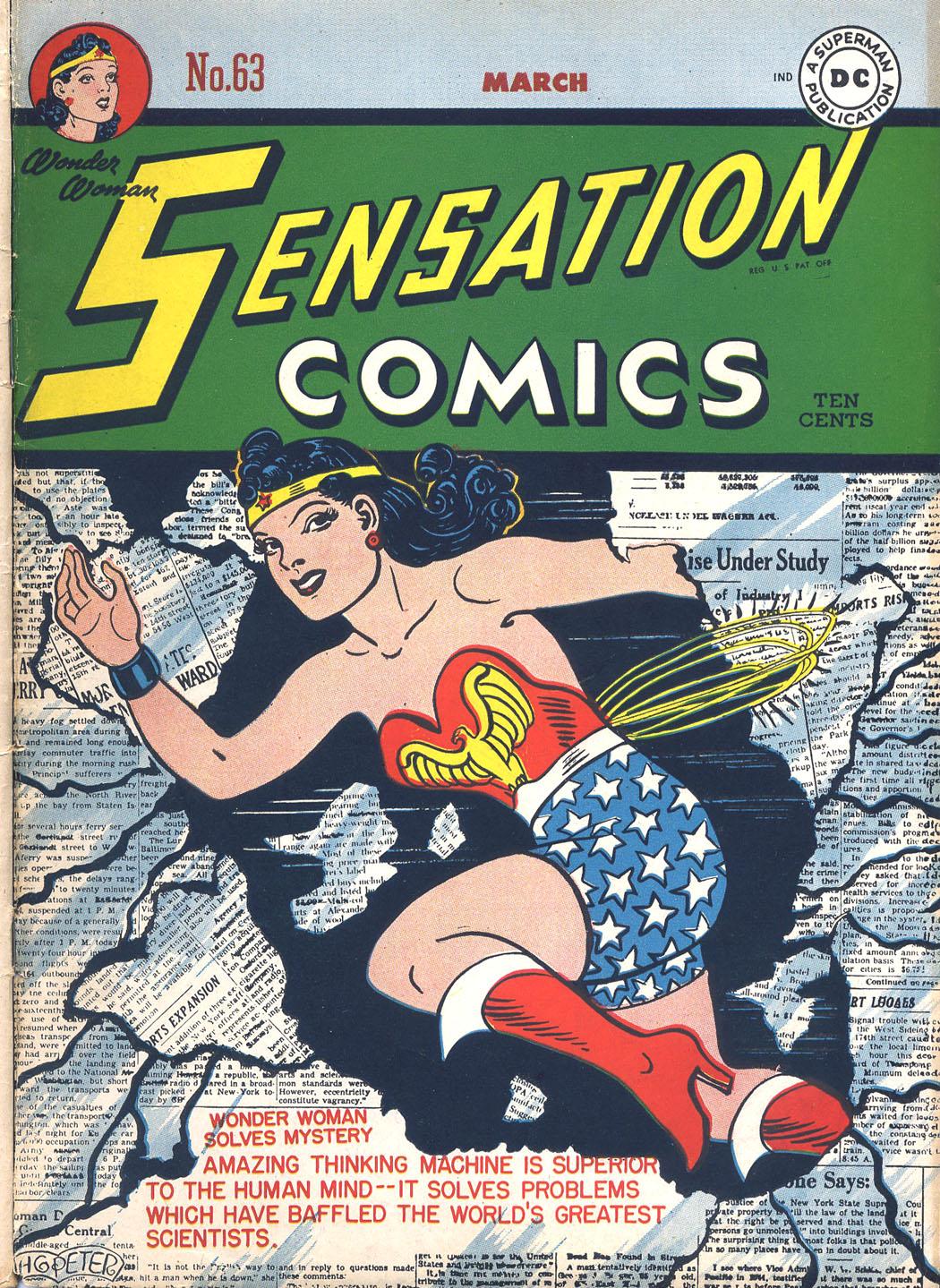 Read online Sensation (Mystery) Comics comic -  Issue #63 - 1