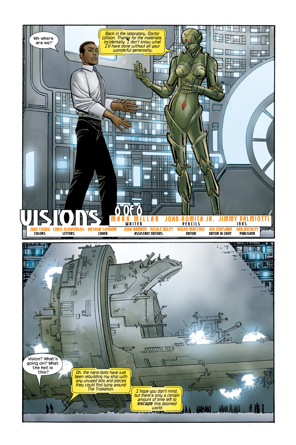 Read online Ultimate Vision comic -  Issue #0 - 23