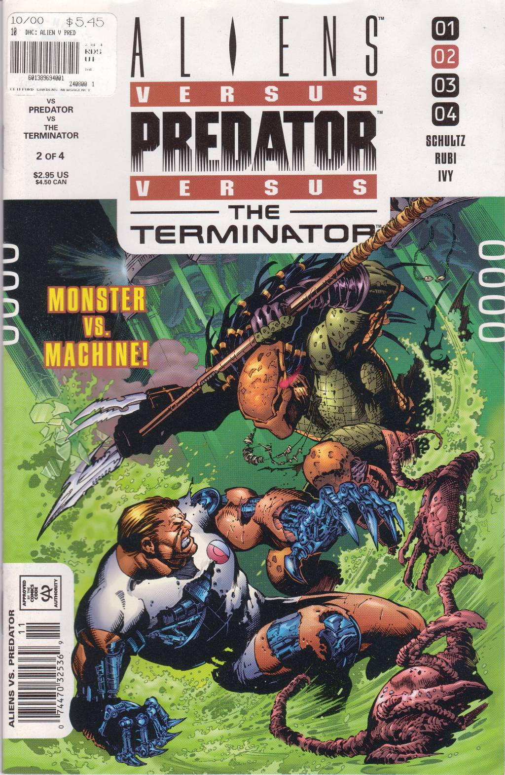 Read online Aliens vs. Predator vs. The Terminator comic -  Issue #2 - 1