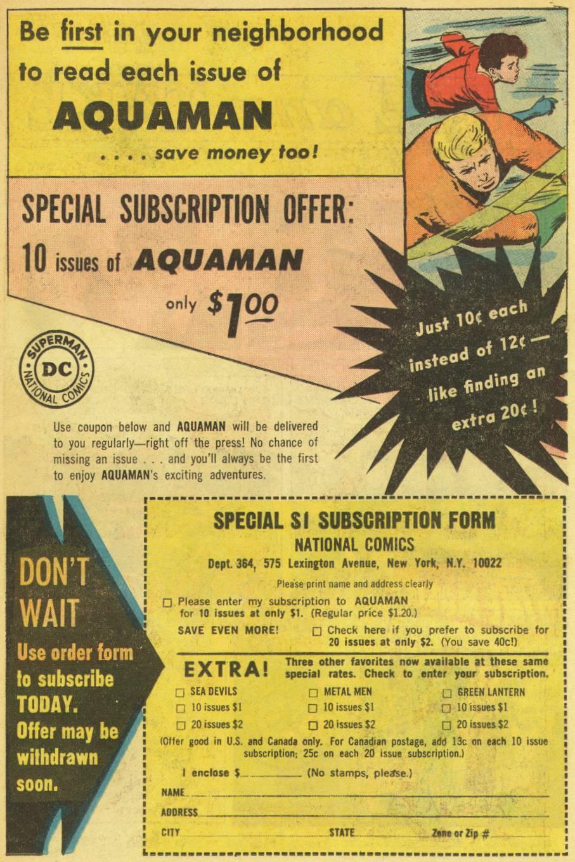Read online Aquaman (1962) comic -  Issue #14 - 31