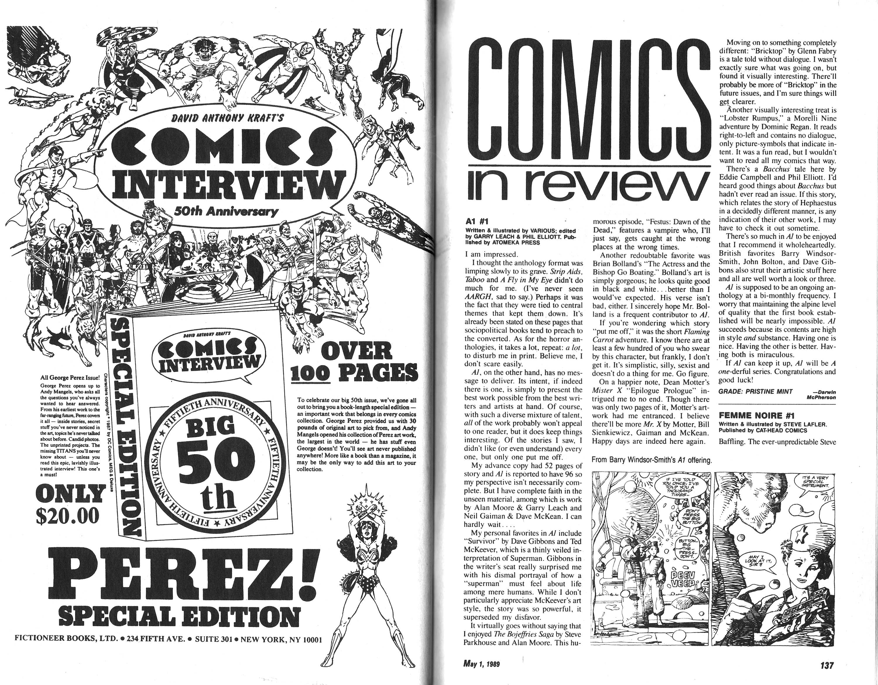 Read online Amazing Heroes comic -  Issue #164 - 69