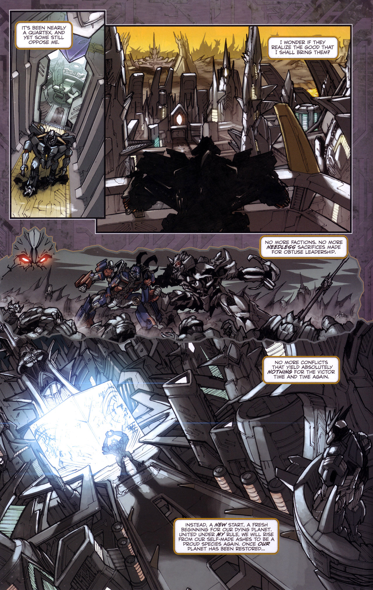 Read online Transformers: The Reign of Starscream comic -  Issue #4 - 8