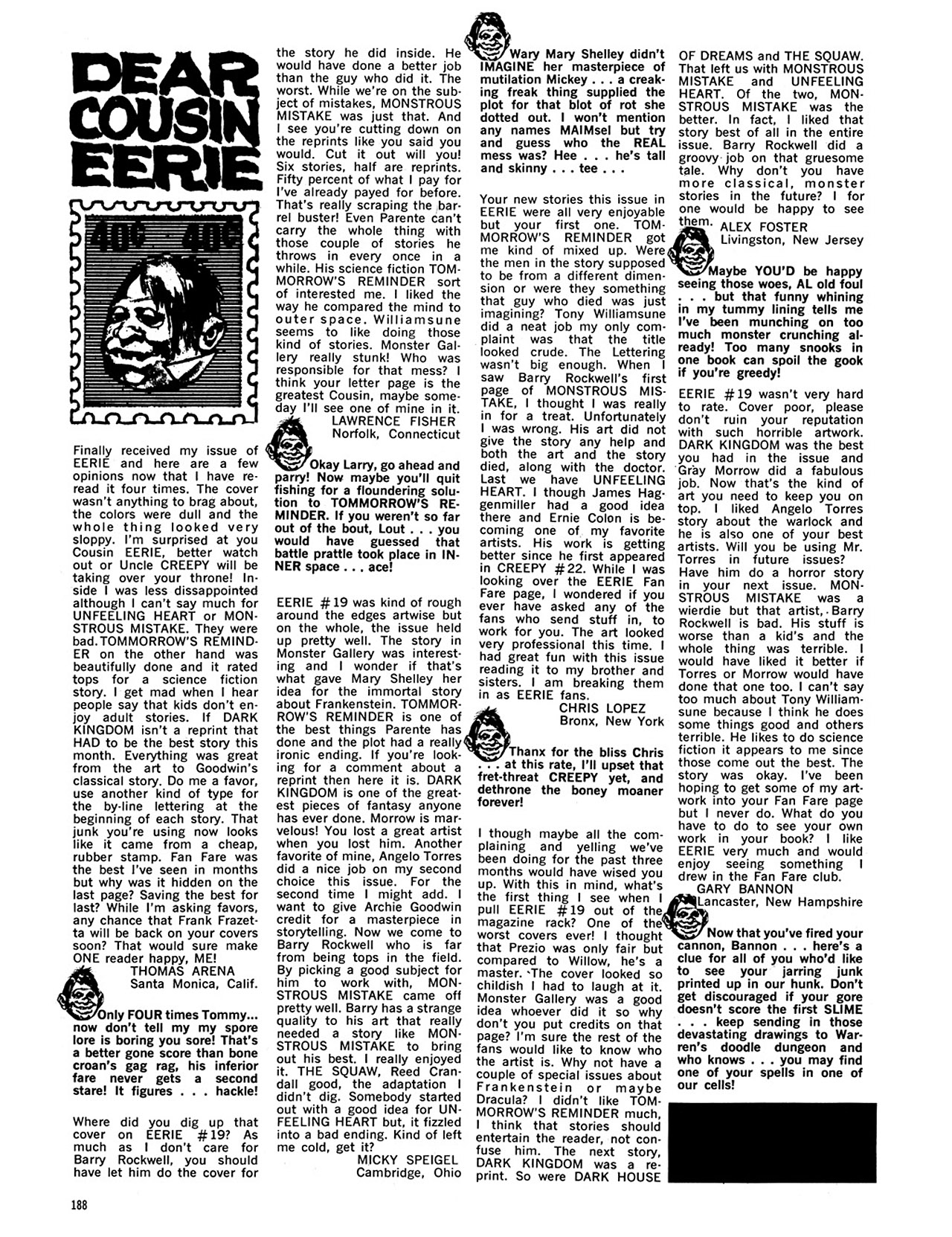 Read online Eerie Archives comic -  Issue # TPB 4 - 188