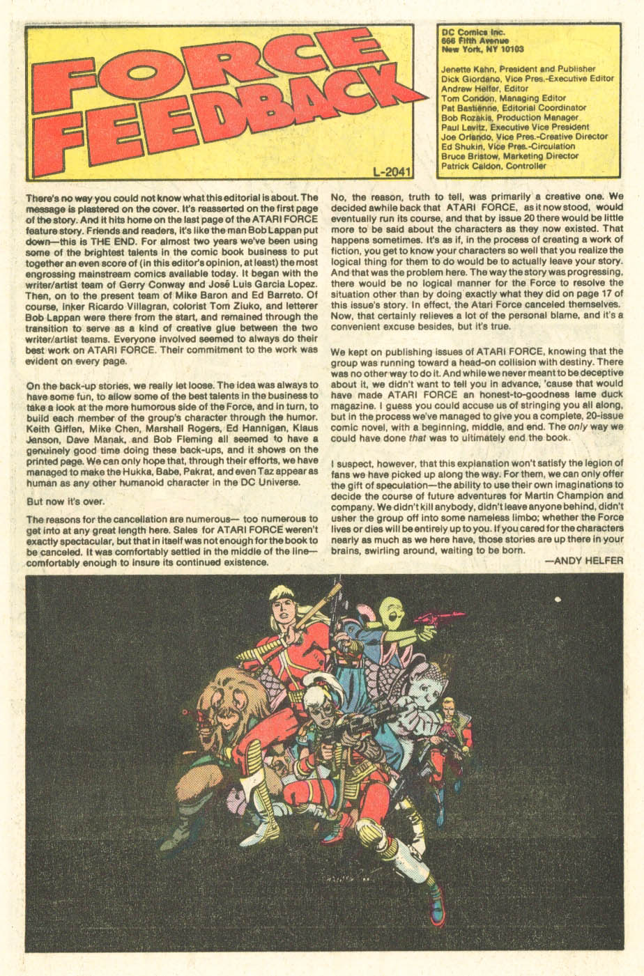 Read online Atari Force (1984) comic -  Issue #20 - 27