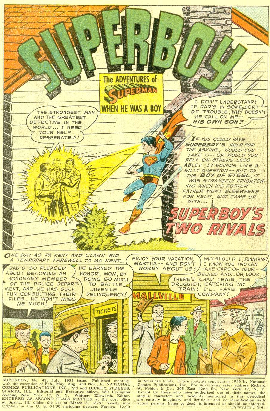Superboy (1949) issue 42 - Page 2