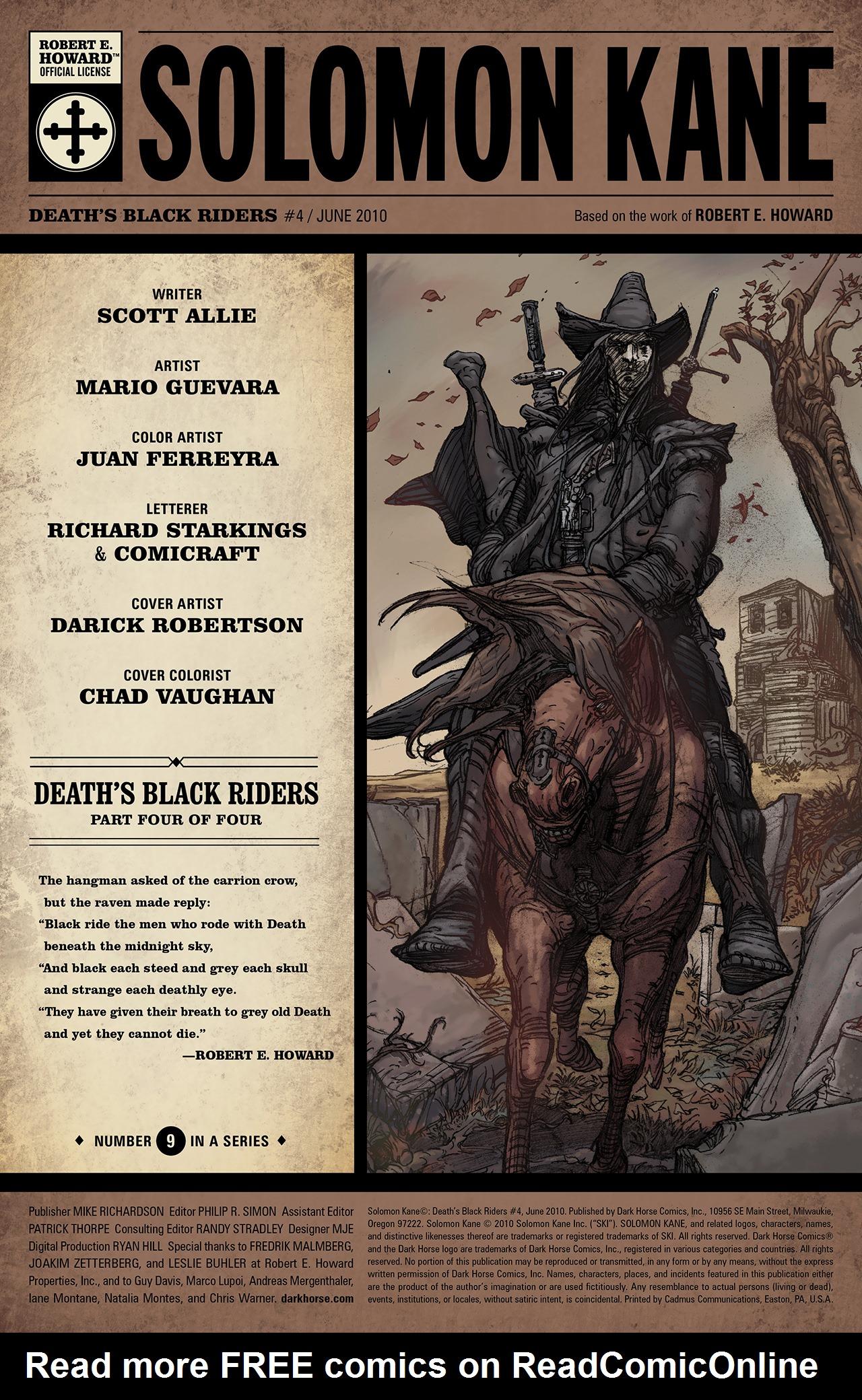 Read online Solomon Kane: Death's Black Riders comic -  Issue #4 - 2