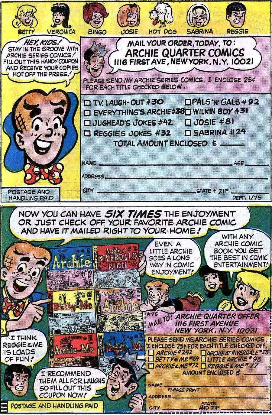 Read online Archie (1960) comic -  Issue #241 - 11