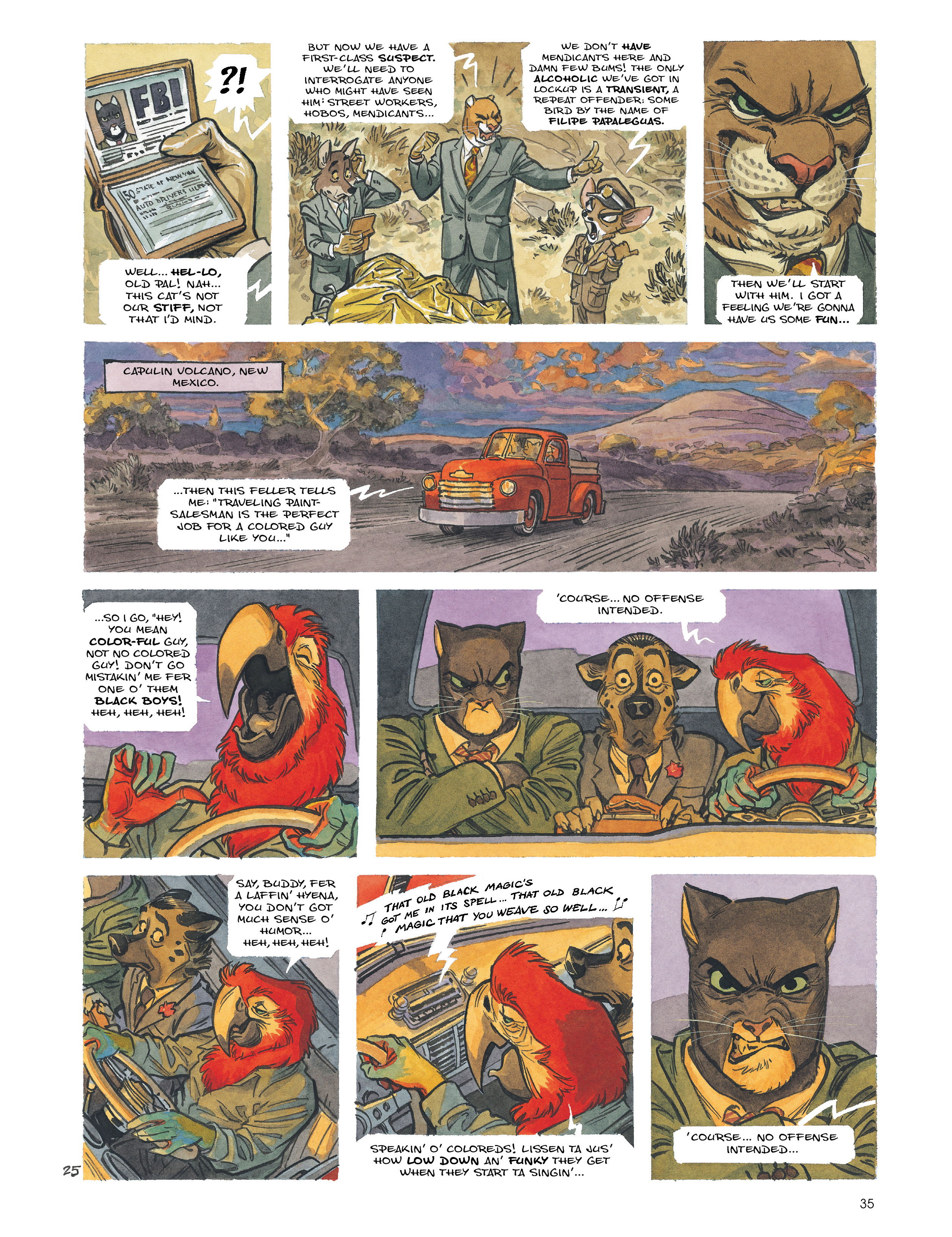 Read online Blacksad: Amarillo comic -  Issue # Full - 34