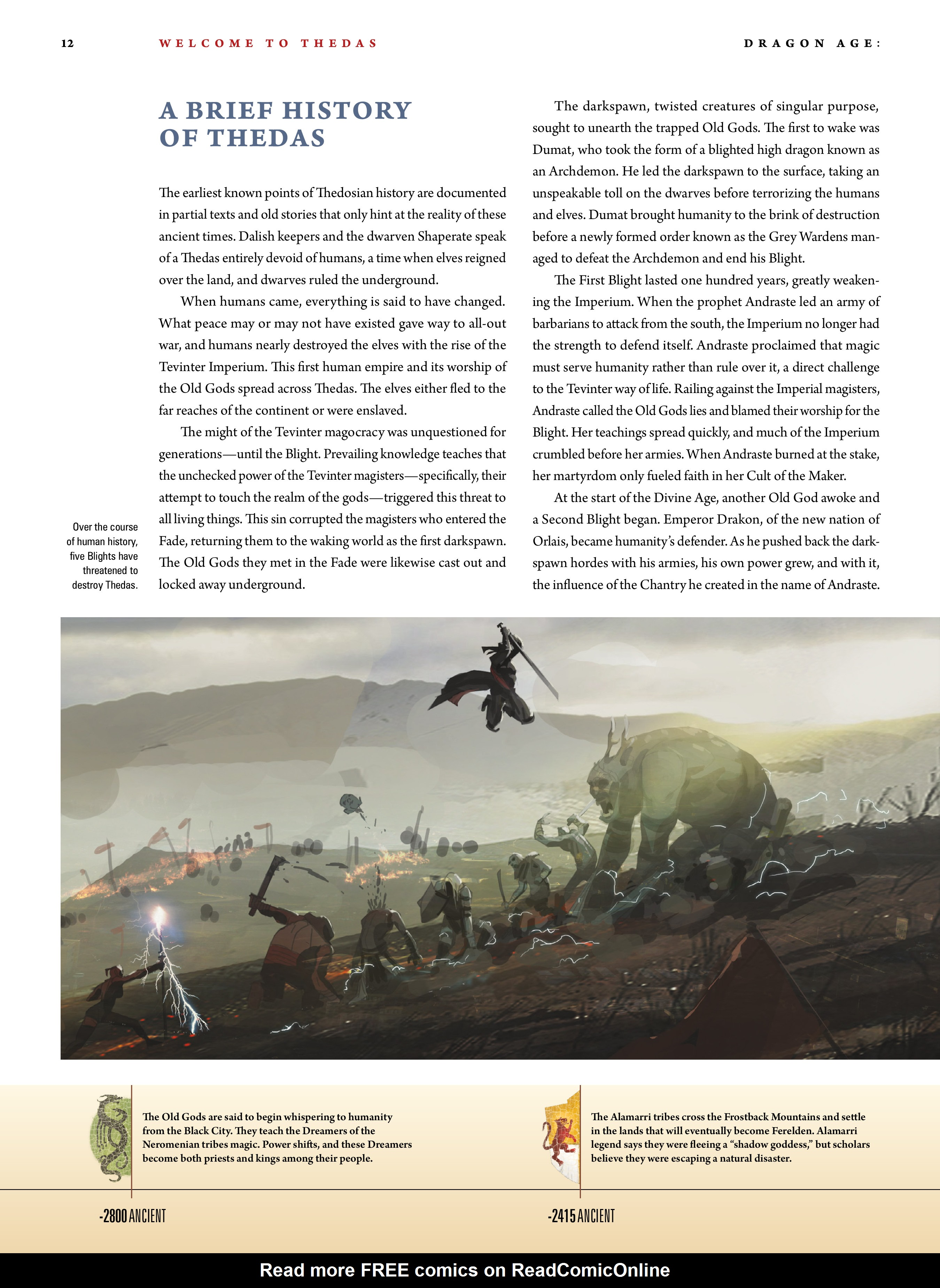 Read online Dragon Age: The World of Thedas comic -  Issue # TPB 1 - 10