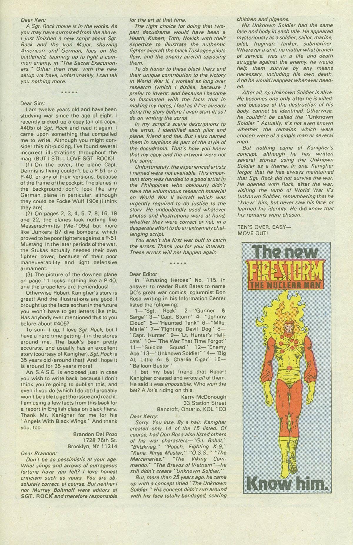 Read online Sgt. Rock comic -  Issue #419 - 31