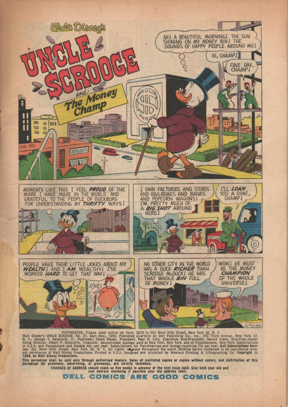 Read online Uncle Scrooge (1953) comic -  Issue #27 - 3