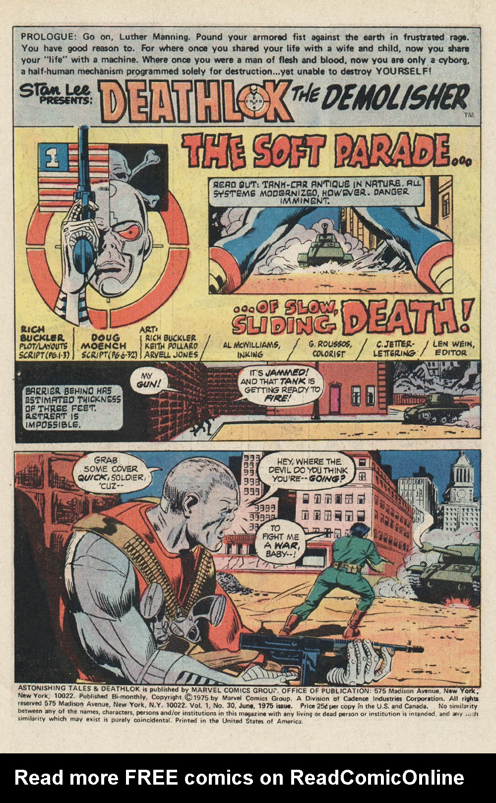 Read online Astonishing Tales (1970) comic -  Issue #30 - 2