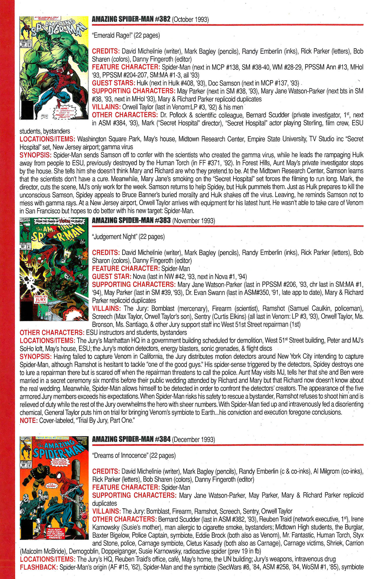 Read online Official Index to the Marvel Universe comic -  Issue #9 - 12