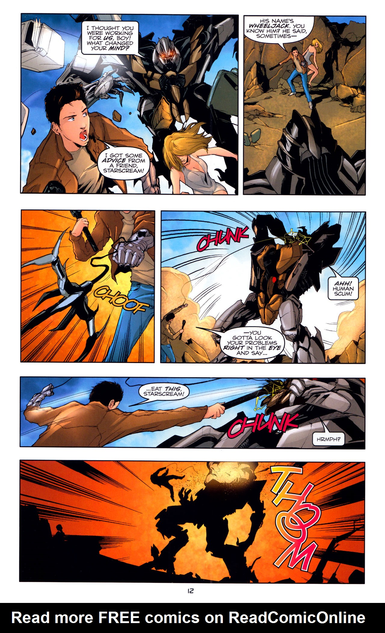Read online Transformers: Dark of the Moon Movie Adaptation comic -  Issue #4 - 14