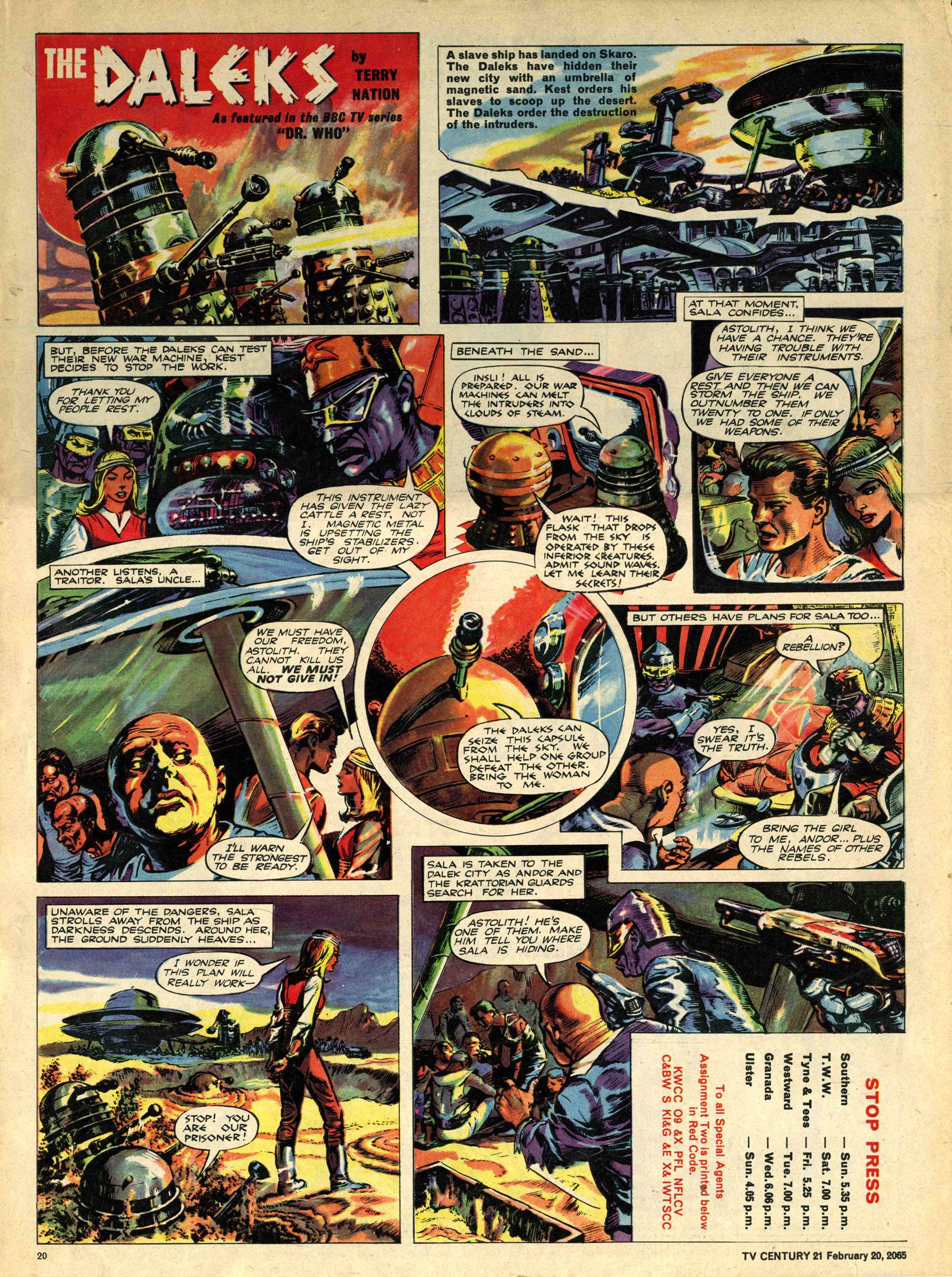 Read online TV Century 21 (TV 21) comic -  Issue #5 - 19