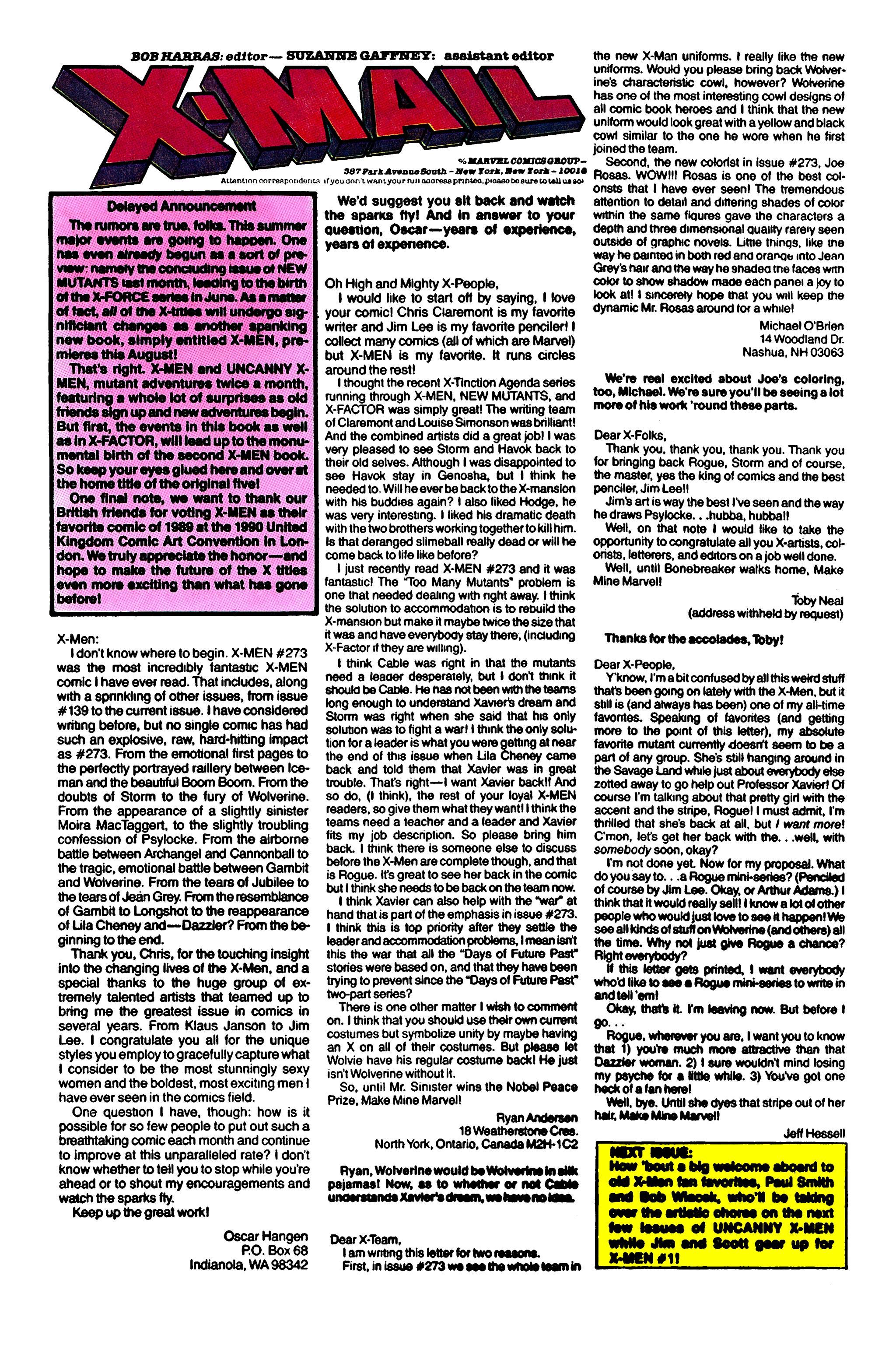 Read online Uncanny X-Men (1963) comic -  Issue #277 - 24