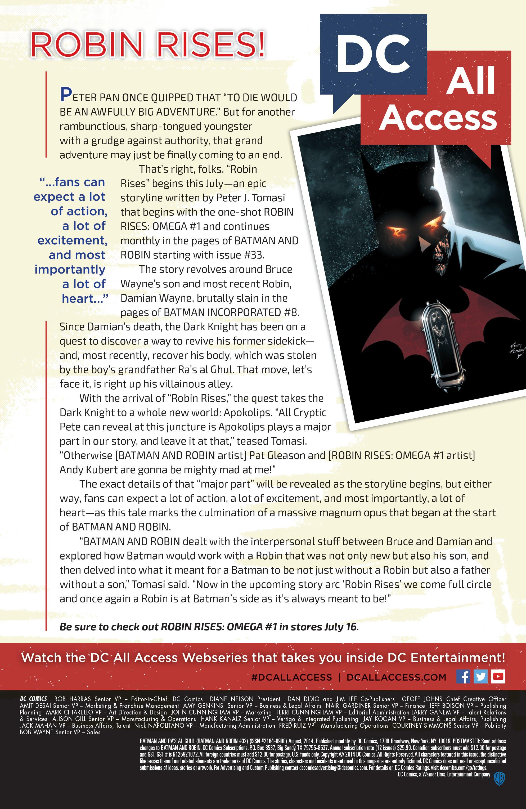 Read online Batman and Robin (2011) comic -  Issue #32 - Batman and Ra's al Ghul - 22