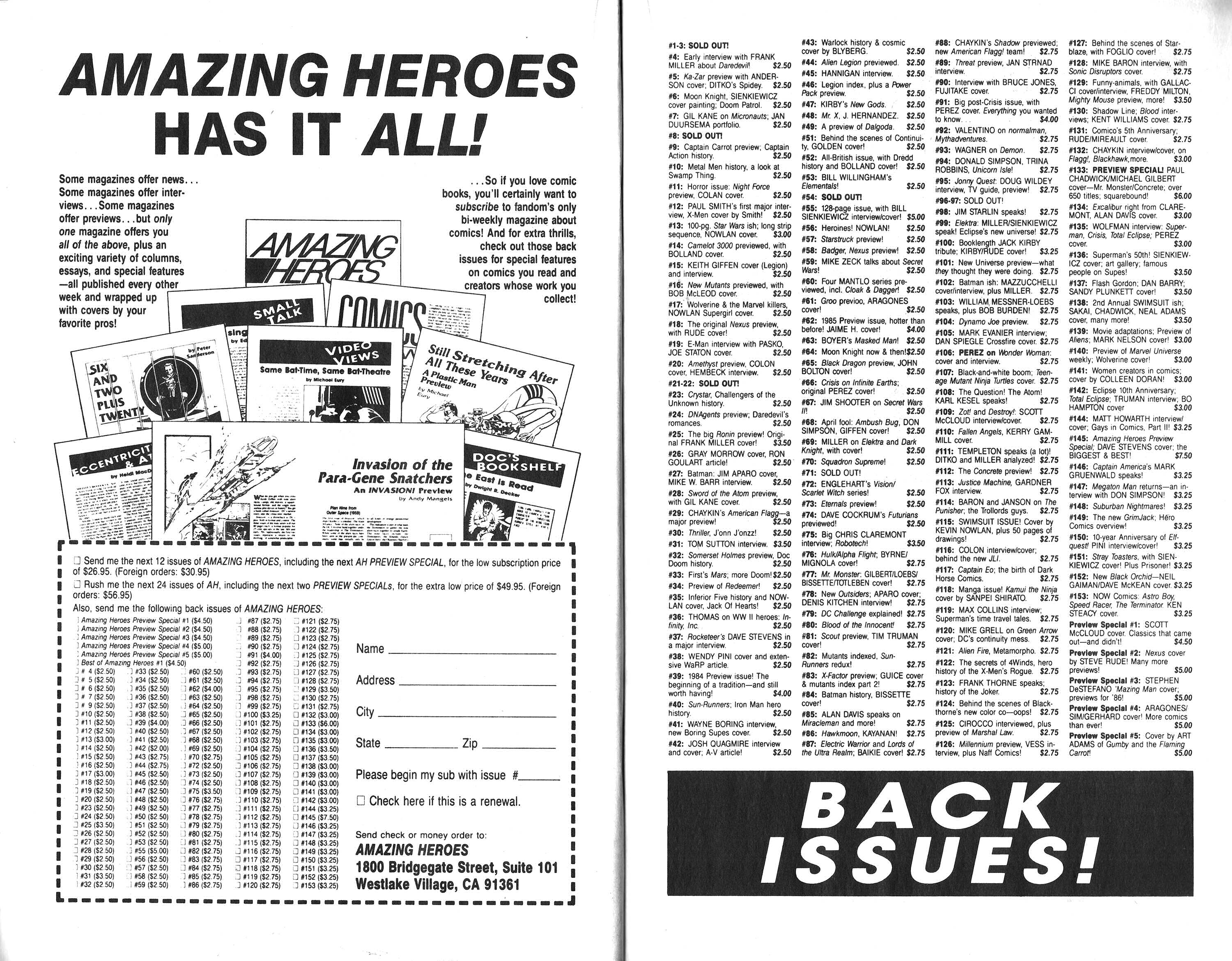 Read online Amazing Heroes comic -  Issue #167 - 13