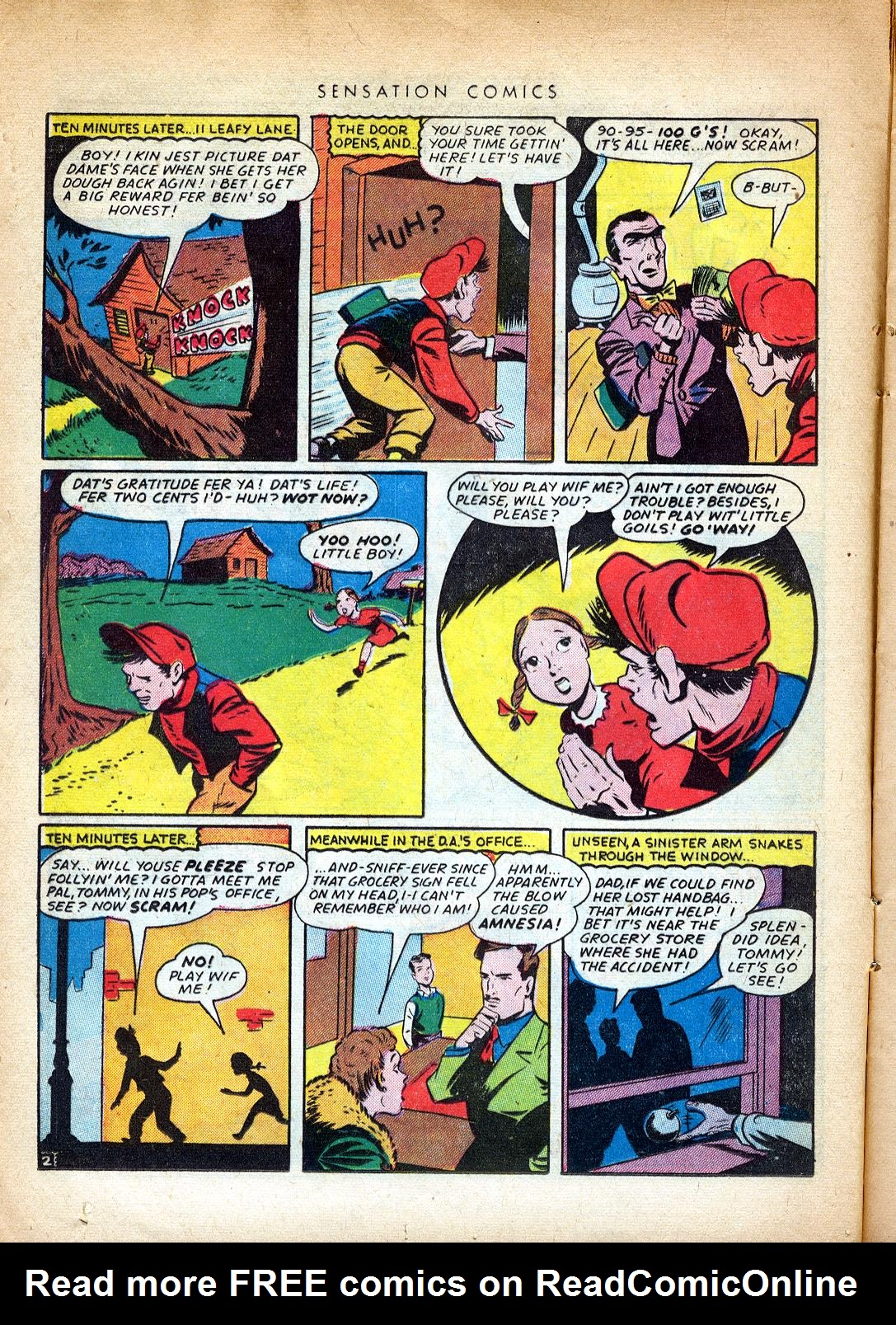 Read online Sensation (Mystery) Comics comic -  Issue #37 - 18