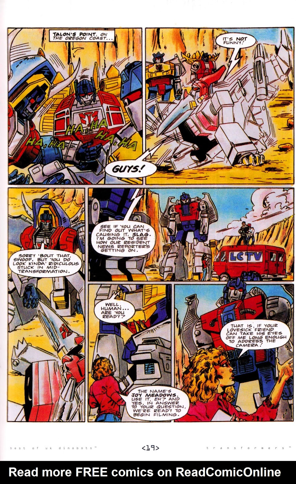 Read online The Transformers: Best of UK: Dinobots comic -  Issue #5 - 21