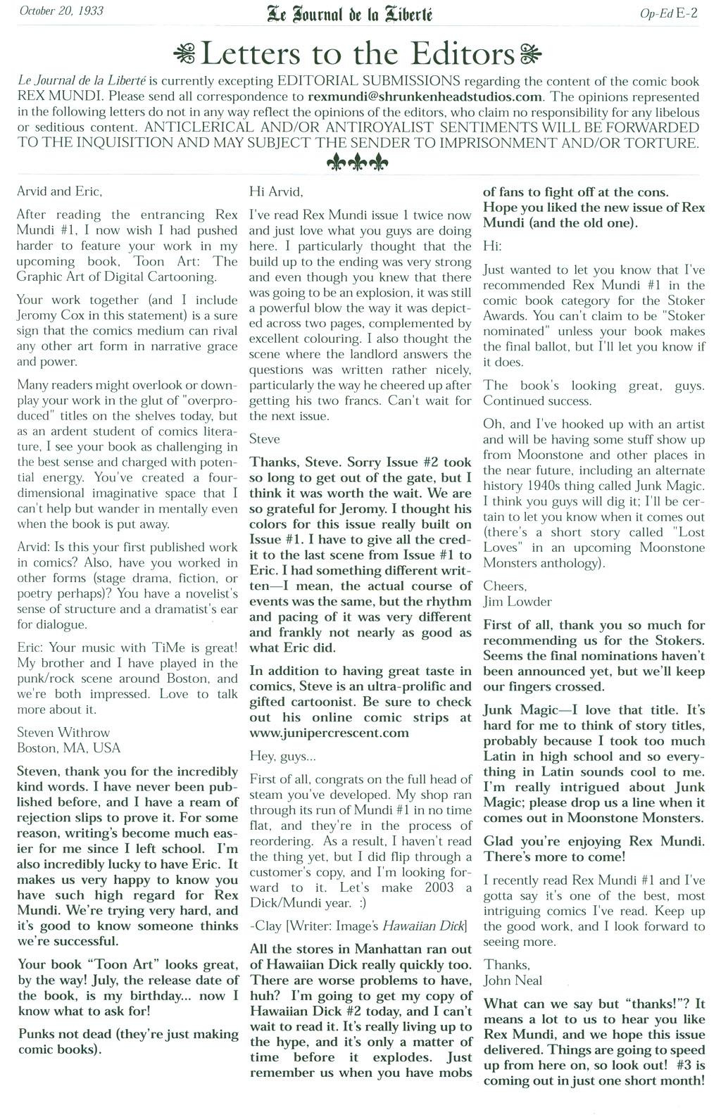 Read online Rex Mundi comic -  Issue #2 - 28
