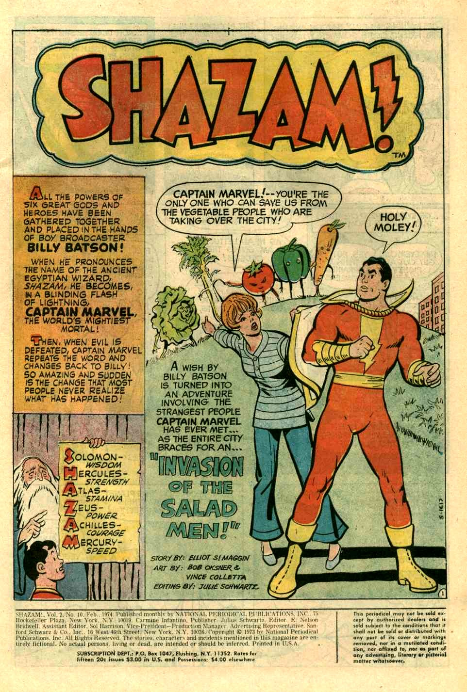 Read online Shazam! (1973) comic -  Issue #10 - 2