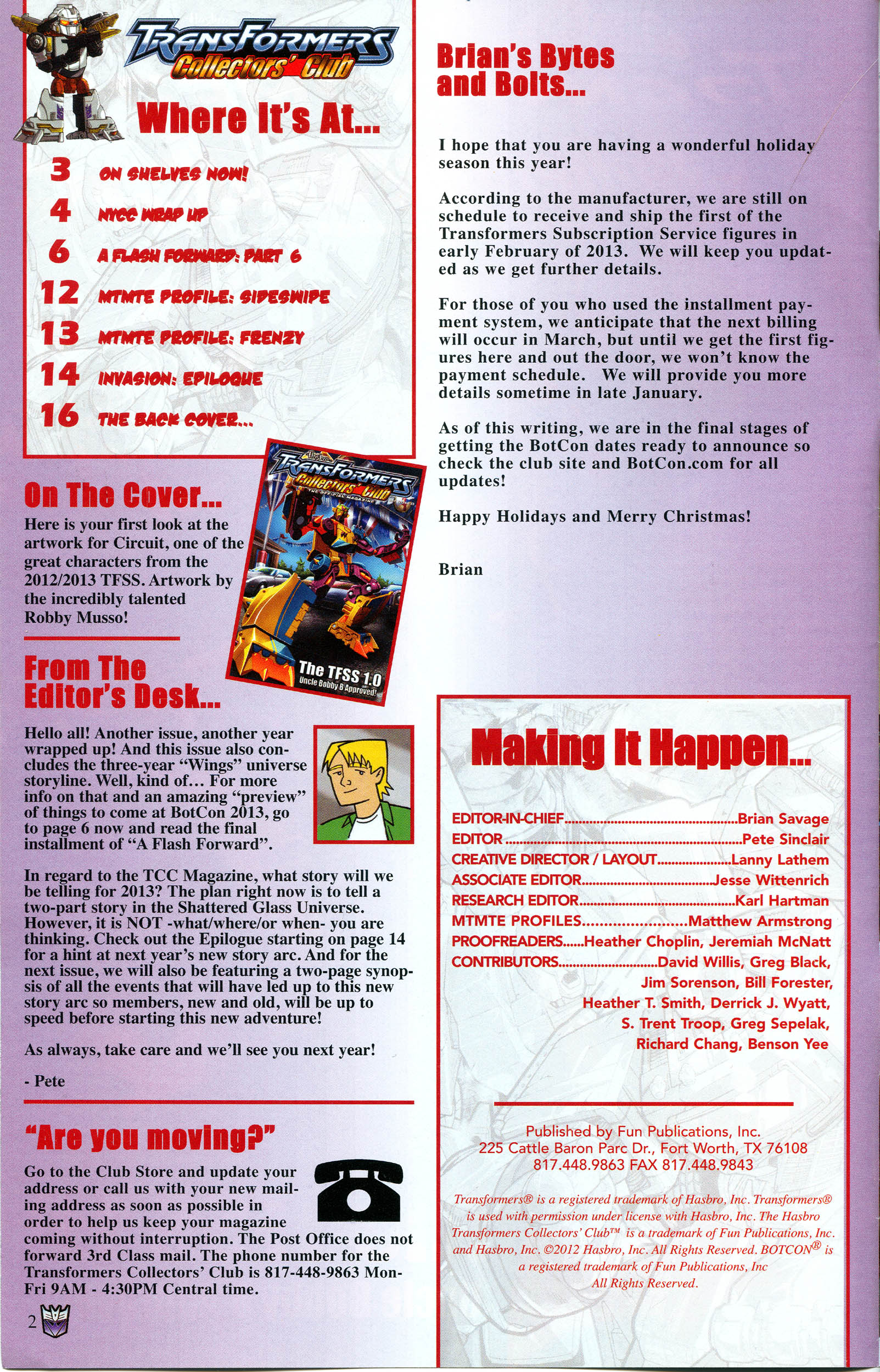 Read online Transformers: Collectors' Club comic -  Issue #48 - 2