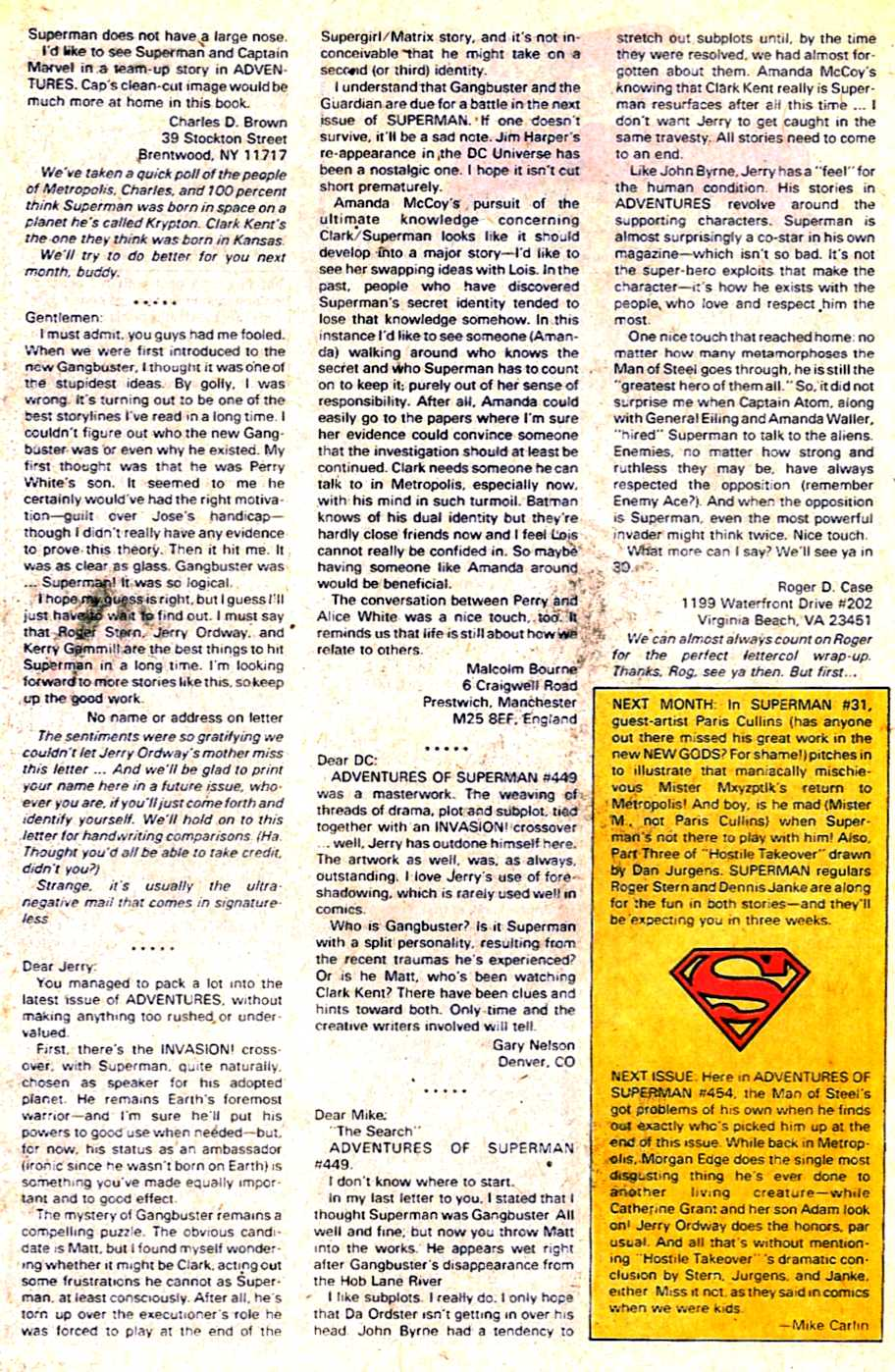 Read online Adventures of Superman (1987) comic -  Issue #453 - 24