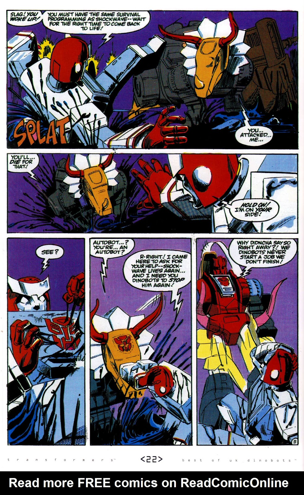 Read online The Transformers: Best of UK: Dinobots comic -  Issue #6 - 25