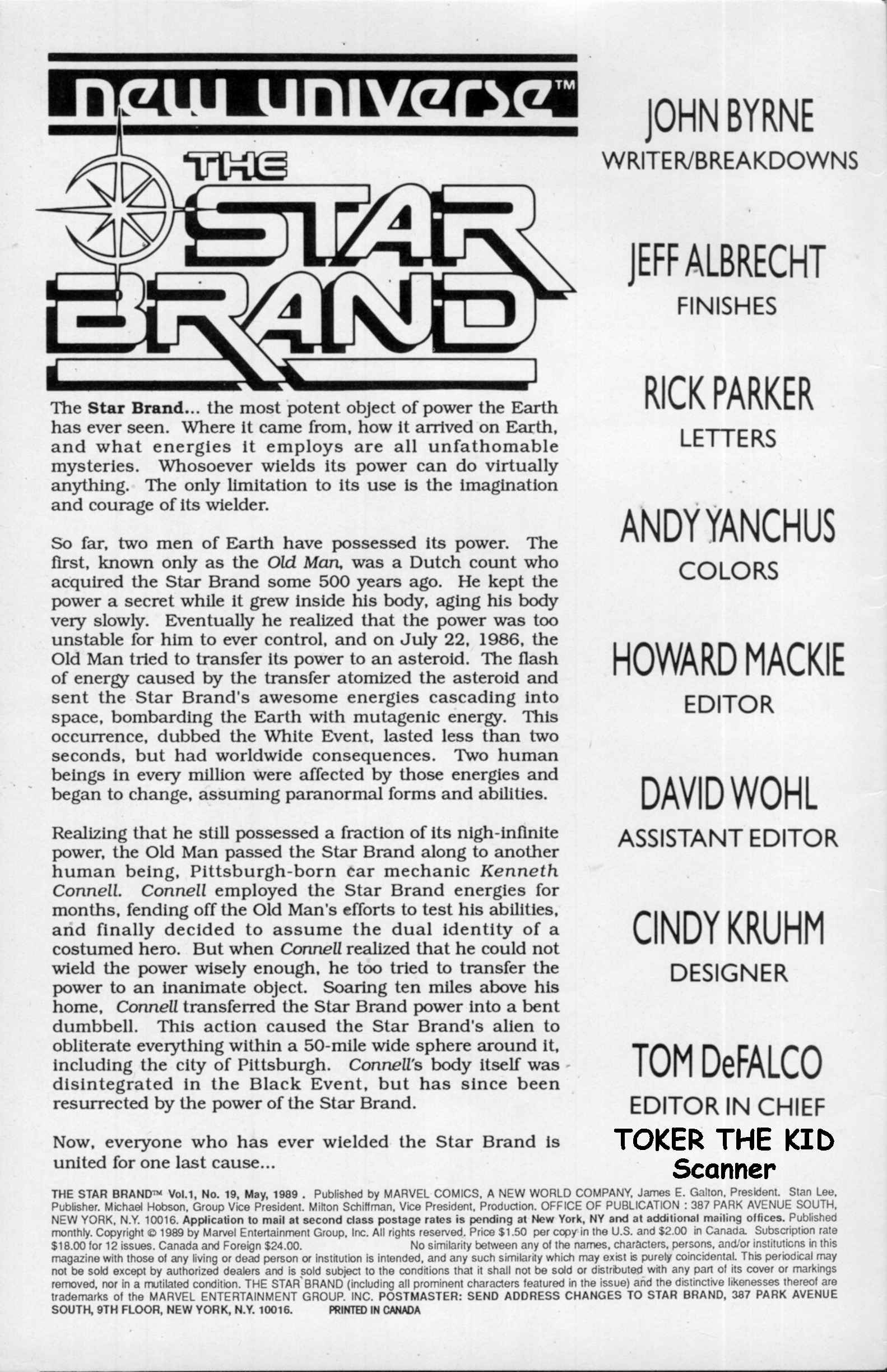 Read online Star Brand comic -  Issue #19 - 2