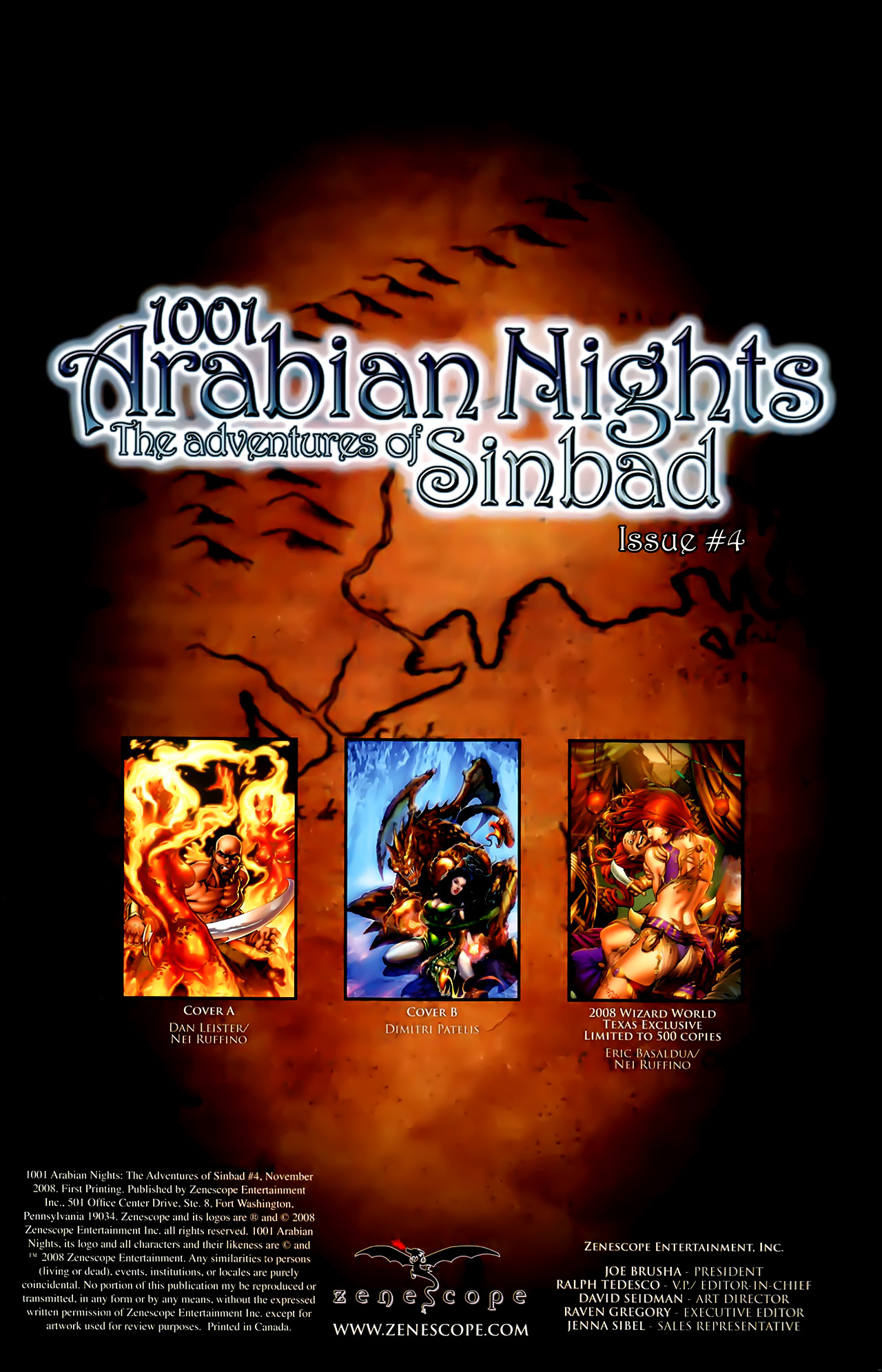Read online 1001 Arabian Nights: The Adventures of Sinbad comic -  Issue #4 - 4