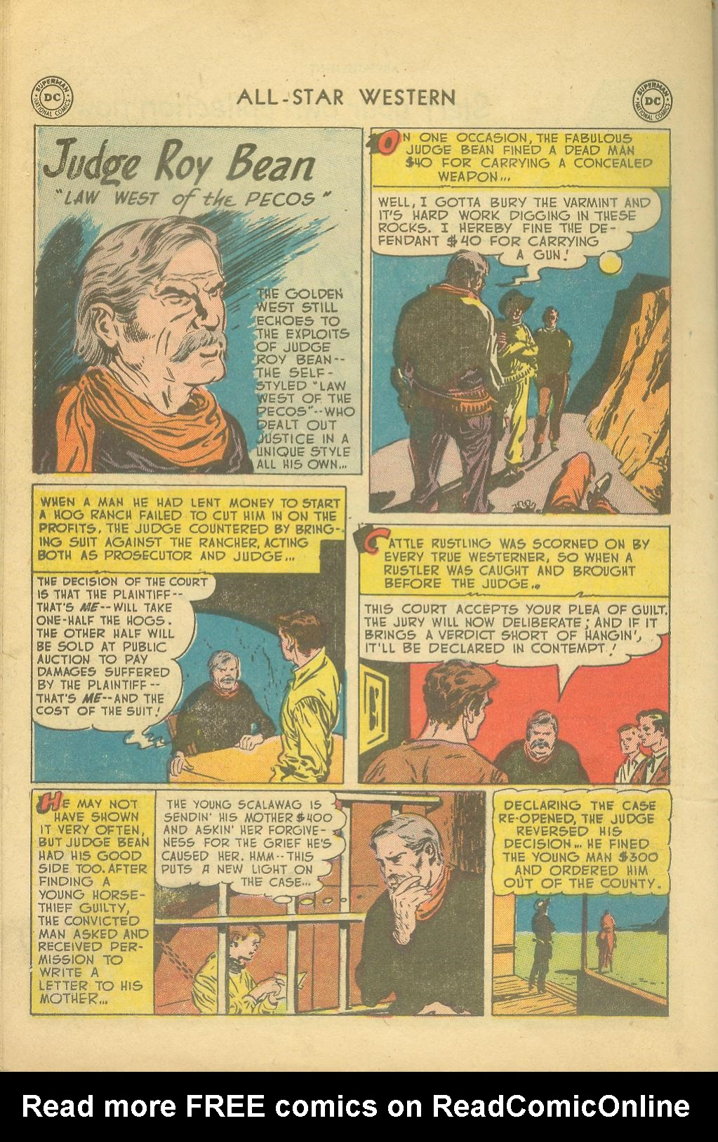 Read online All-Star Western (1951) comic -  Issue #65 - 34