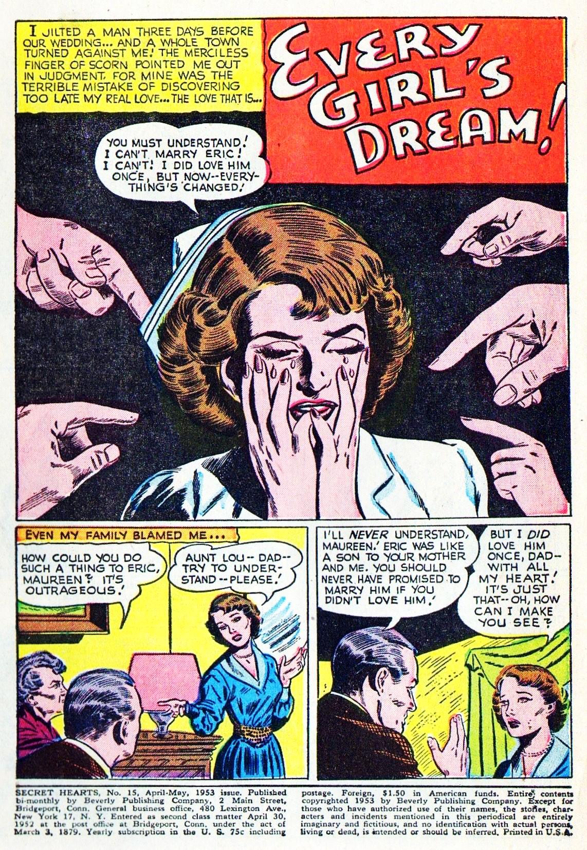 Read online Secret Hearts comic -  Issue #15 - 3