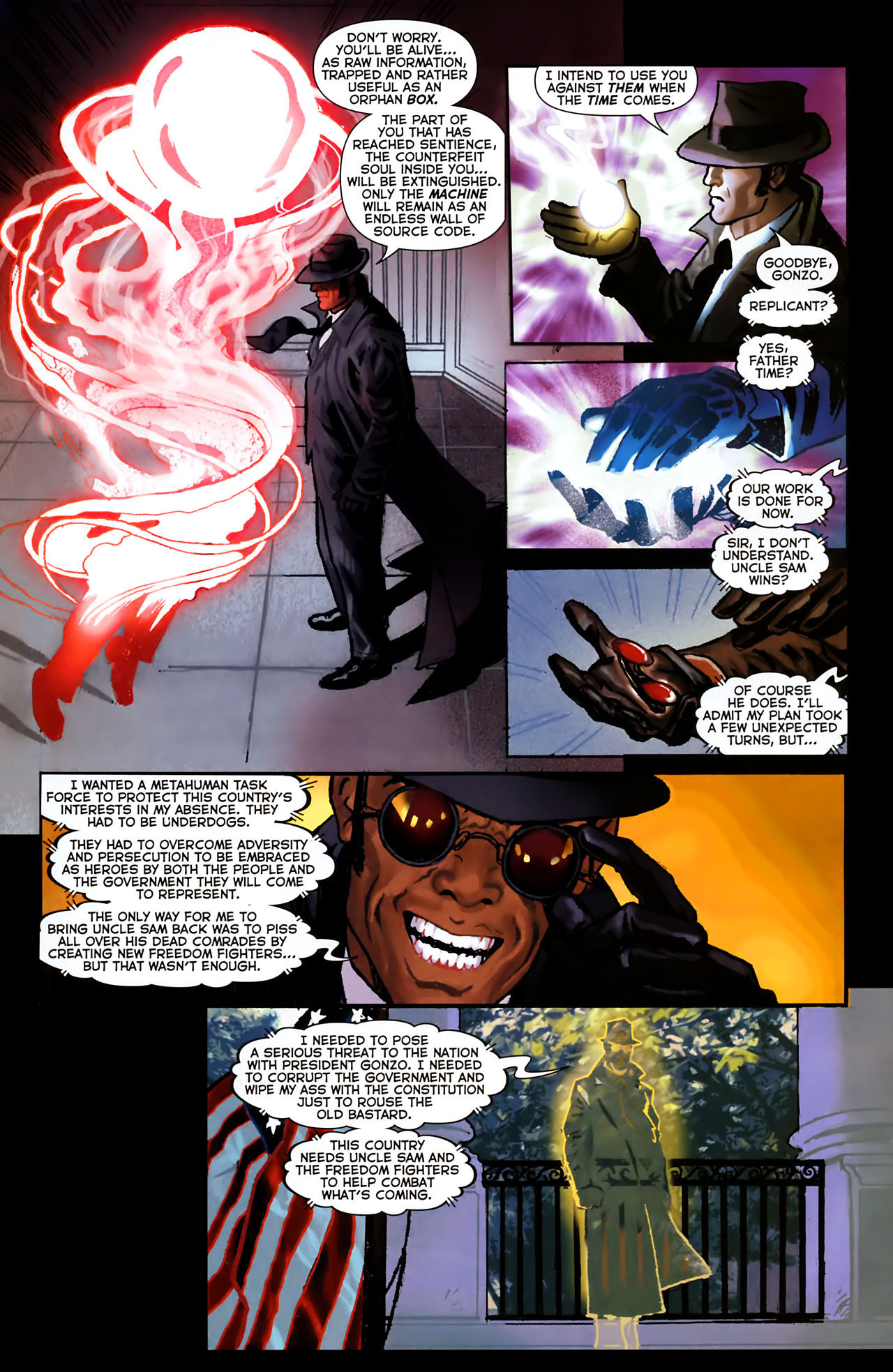 Read online Uncle Sam and the Freedom Fighters (2006) comic -  Issue #8 - 14