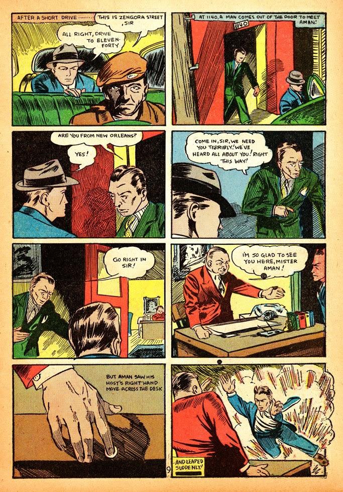 Read online Amazing Man Comics comic -  Issue #12 - 11