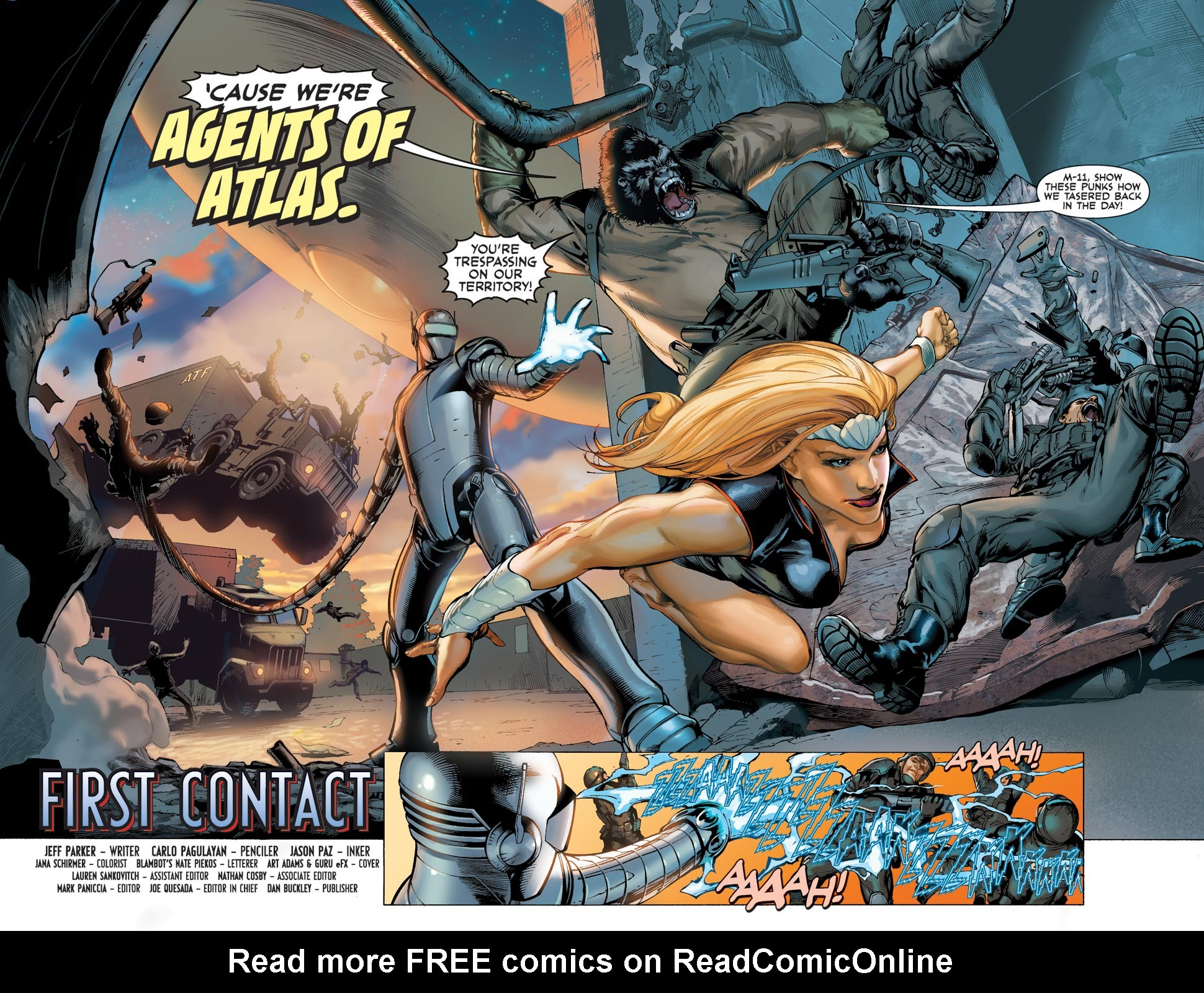 Read online Agents Of Atlas (2009) comic -  Issue #1 - 5