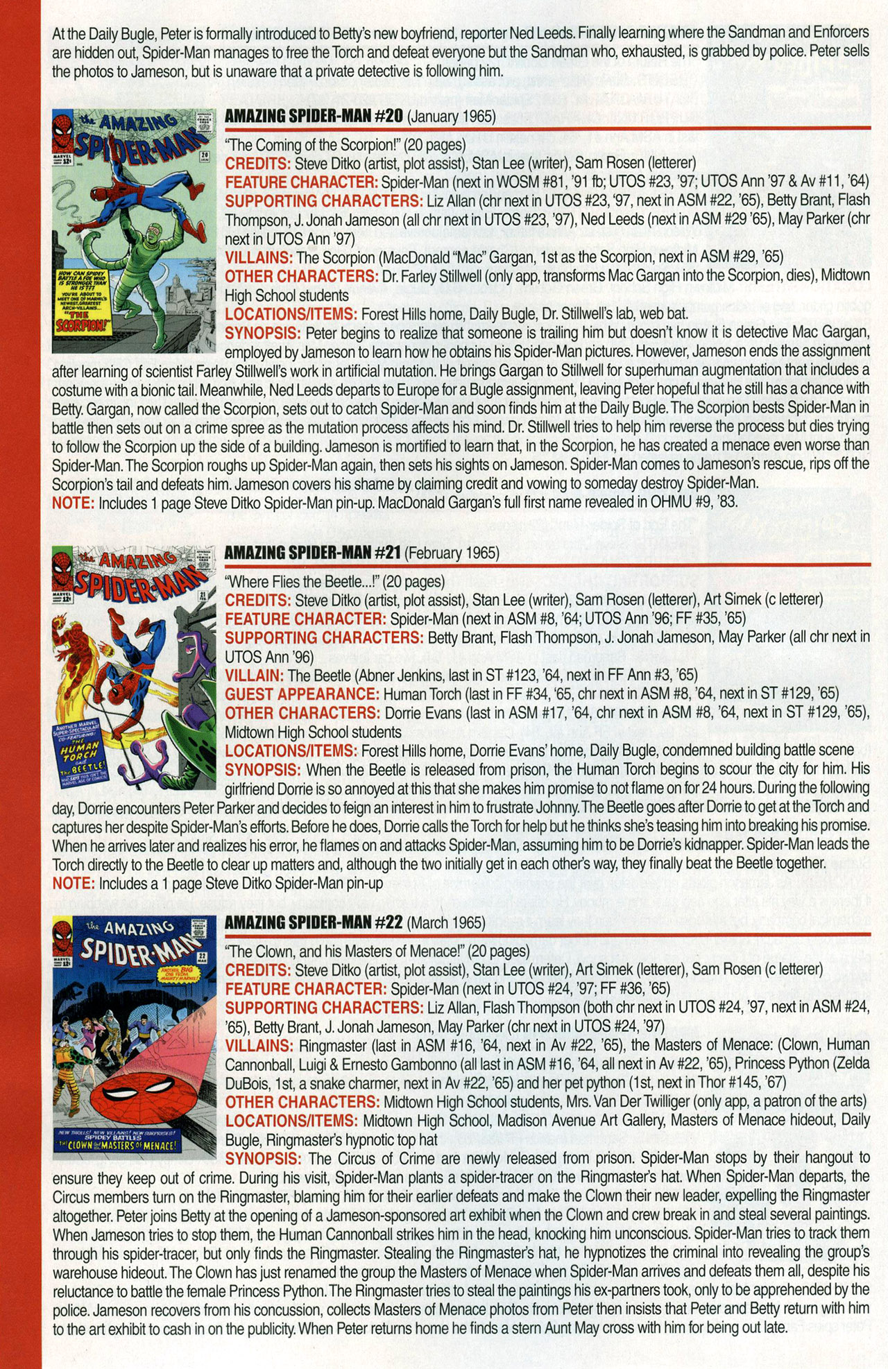 Read online Official Index to the Marvel Universe comic -  Issue #1 - 12