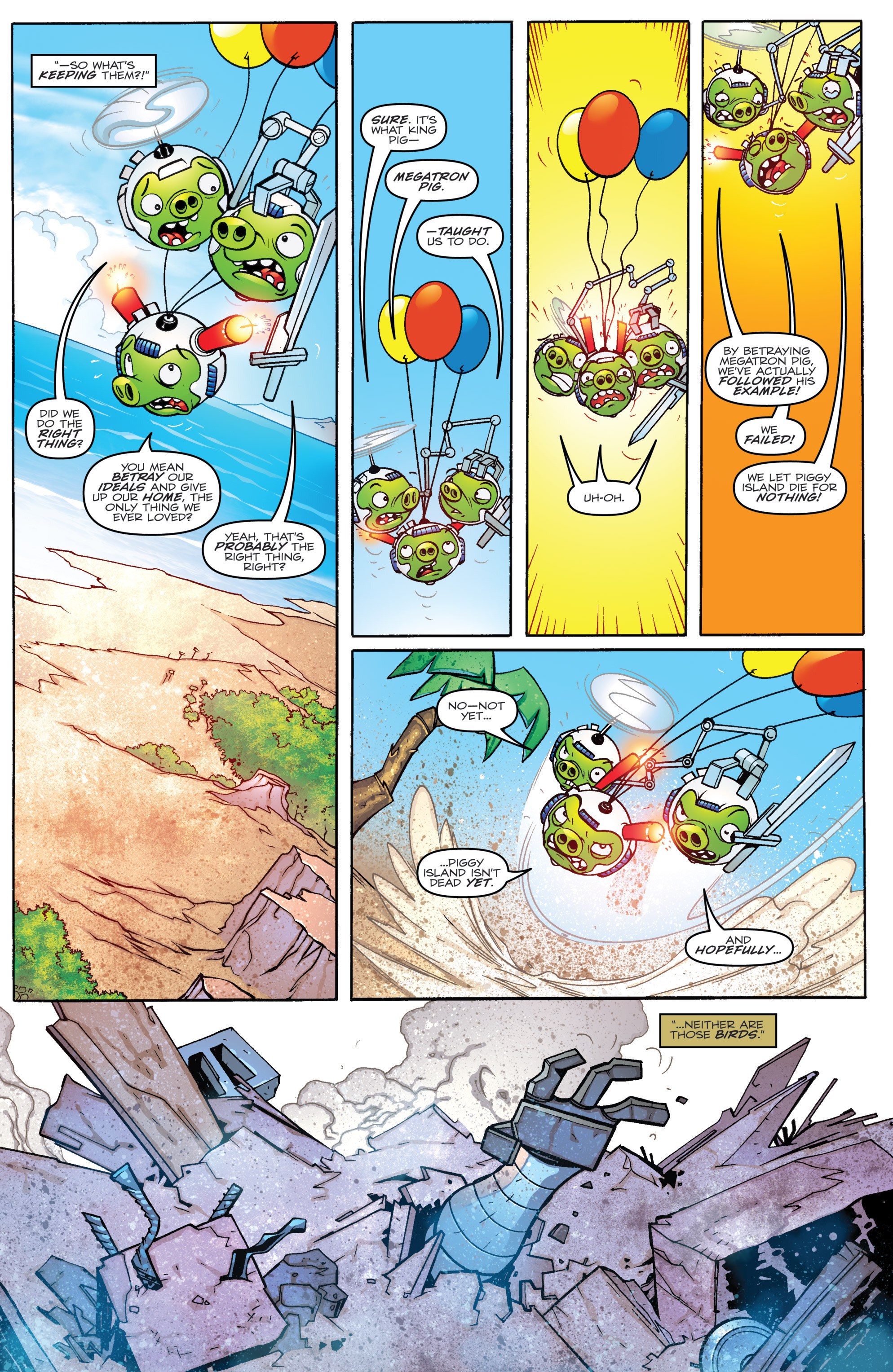 Read online Angry Birds Transformers comic -  Issue #4 - 10