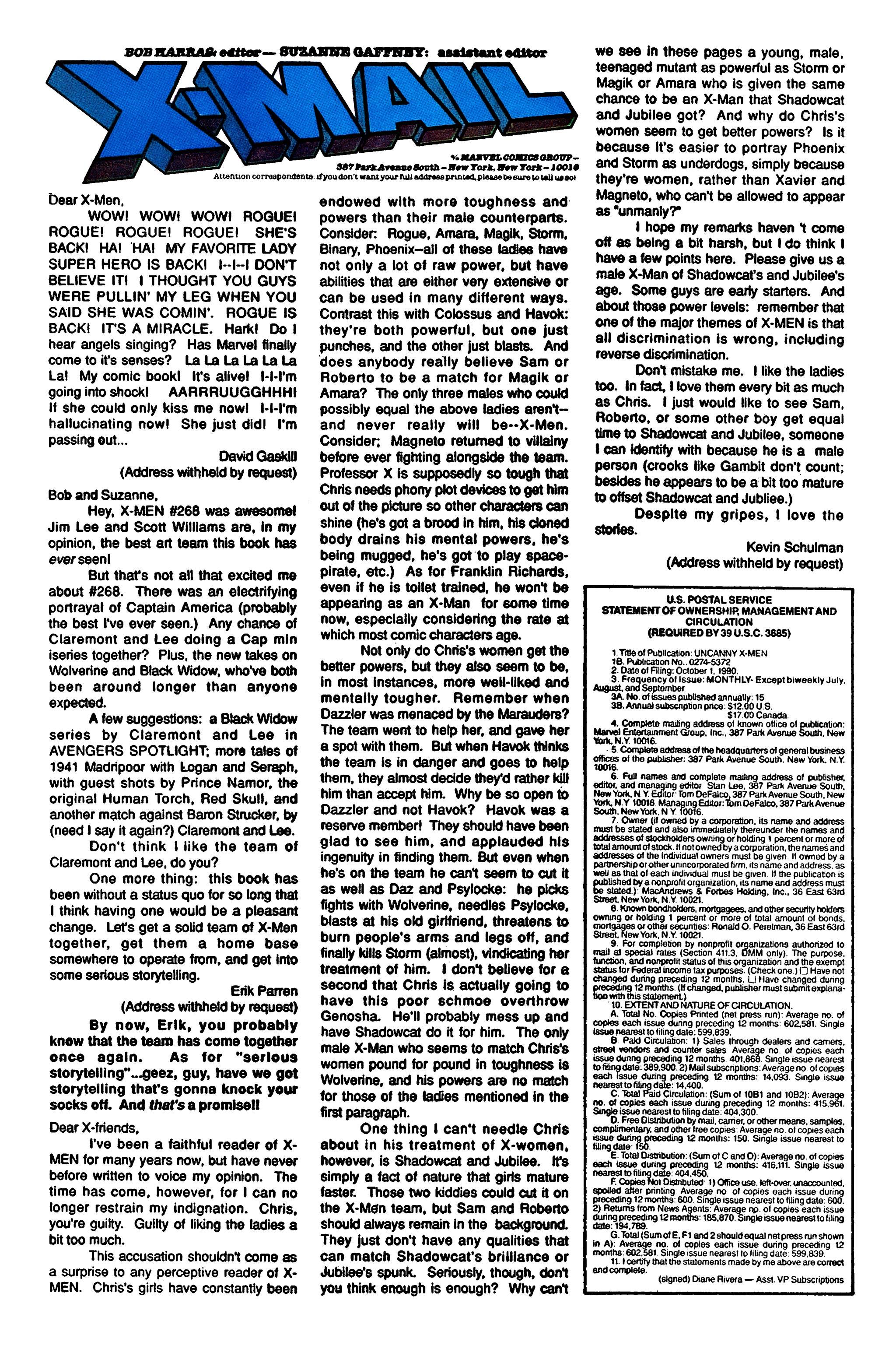 Read online Uncanny X-Men (1963) comic -  Issue #274 - 24