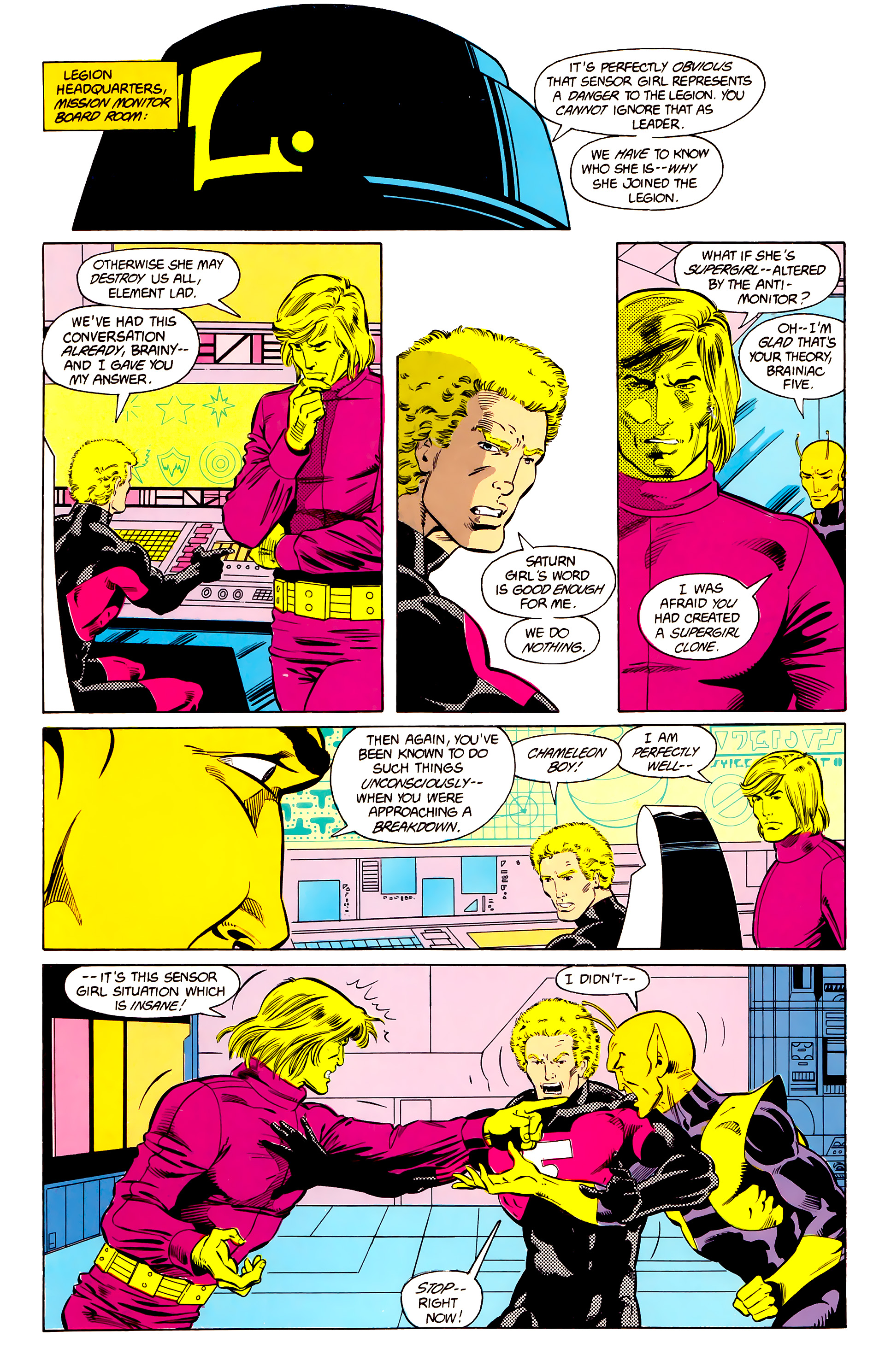 Legion of Super-Heroes (1984) 24 Page 8