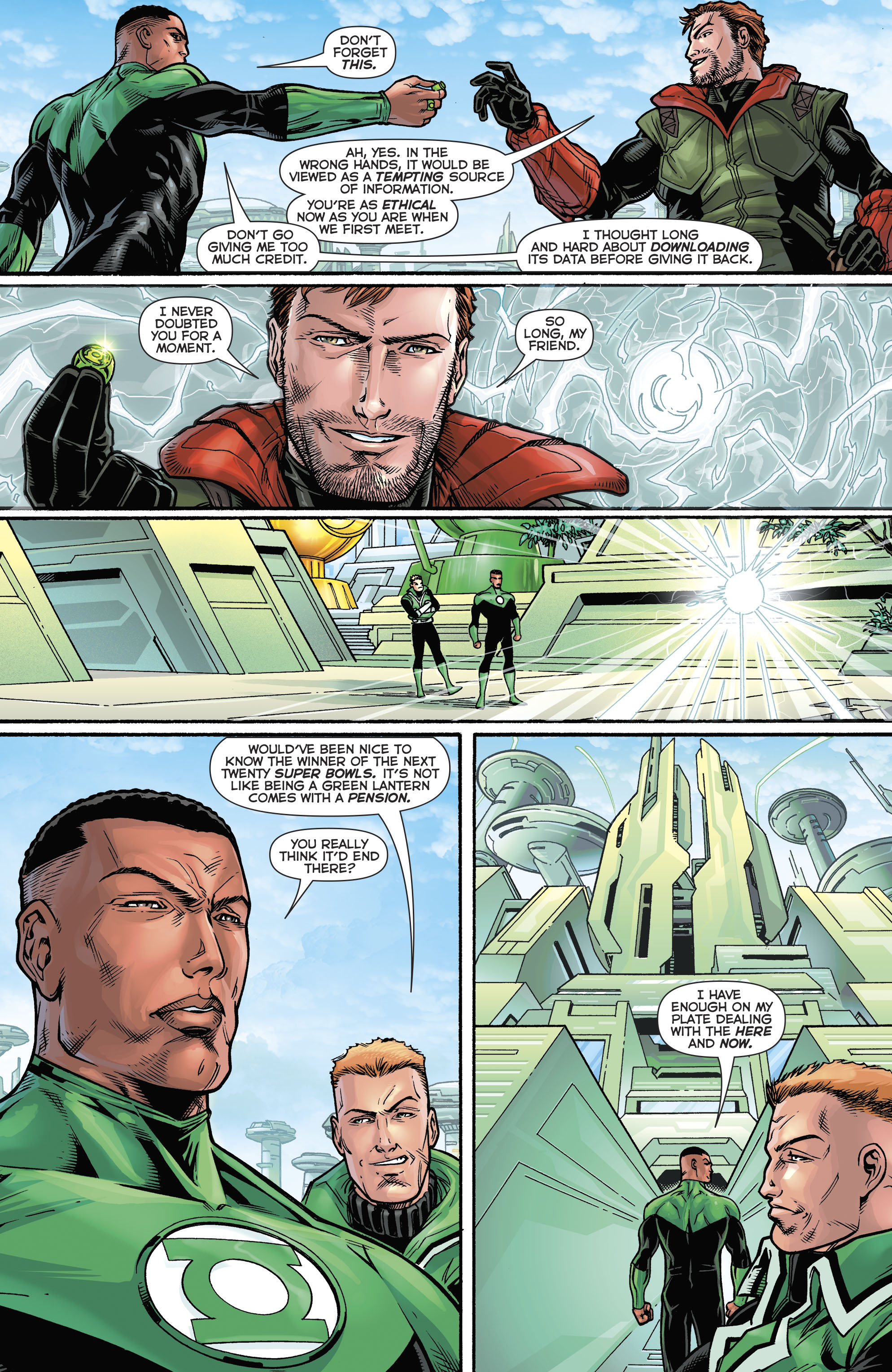 Read online Hal Jordan And The Green Lantern Corps comic -  Issue #21 - 22