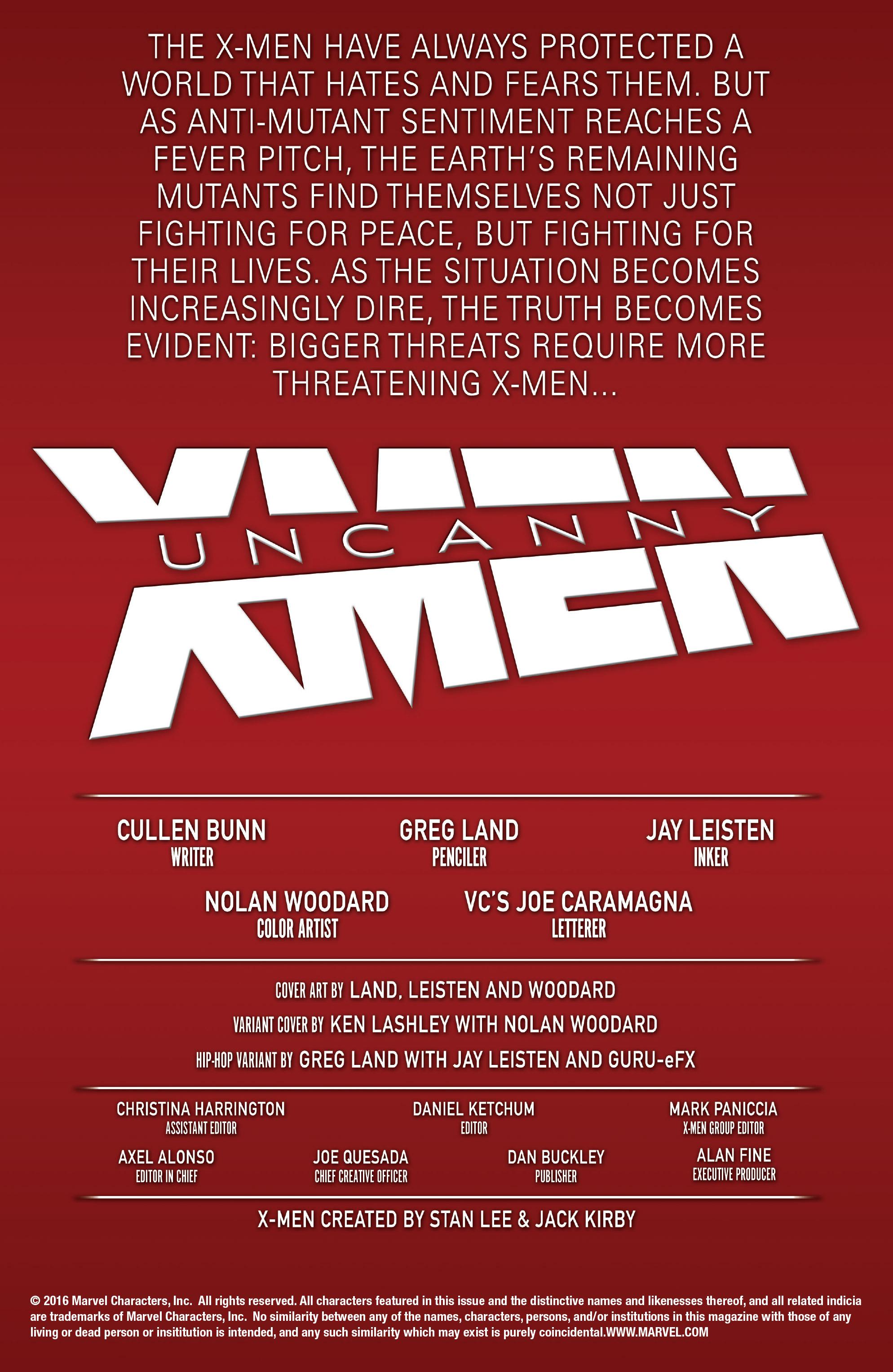 Read online Uncanny X-Men (2016) comic -  Issue #1 - 2