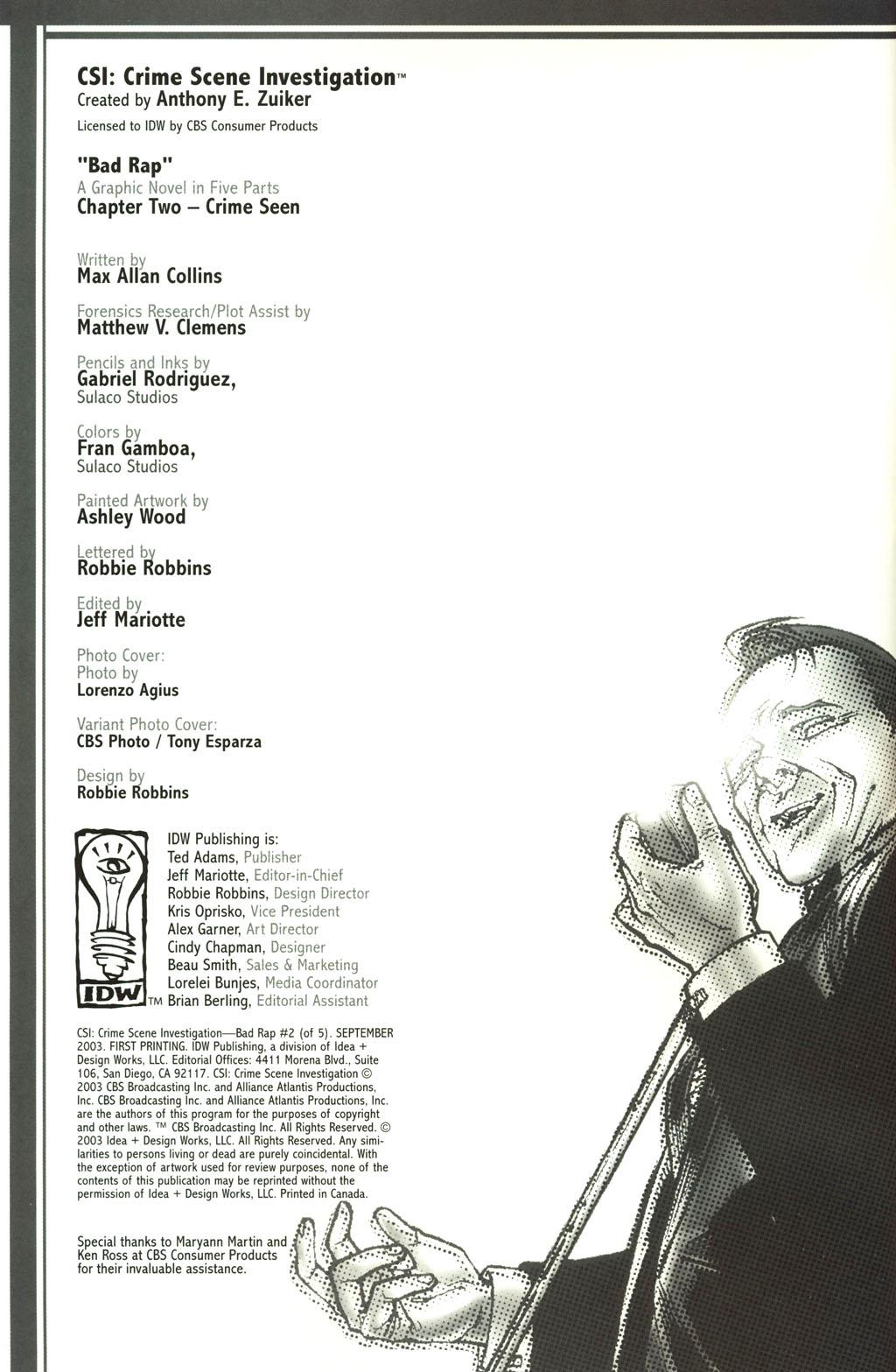 Read online CSI: Crime Scene Investigation: Bad Rap comic -  Issue #2 - 2