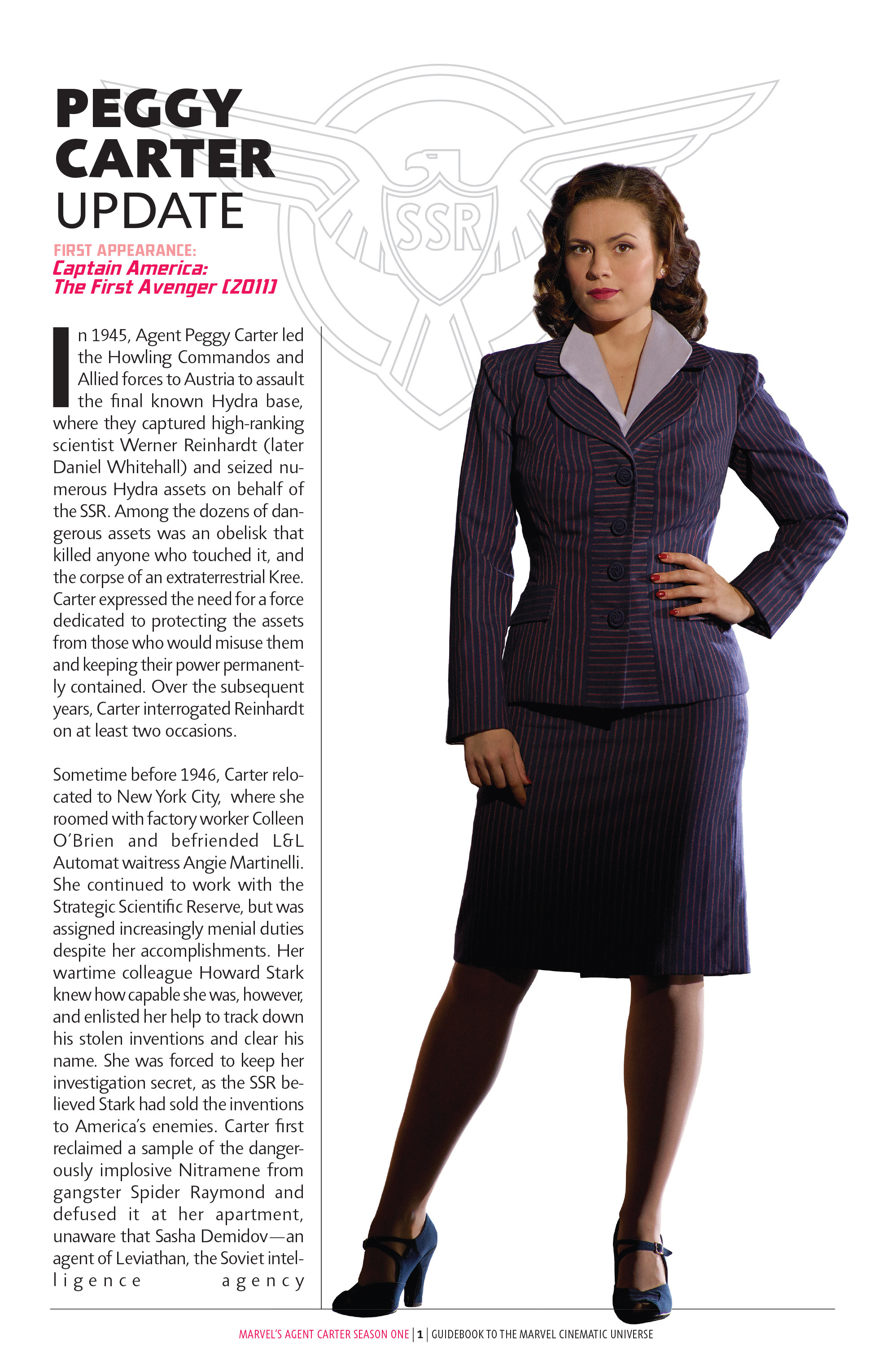 Guidebook to the Marvel Cinematic Universe - Marvels Agent Carter Season One Full Page 3