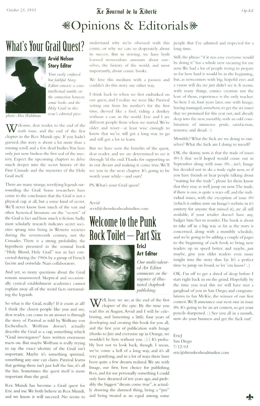 Read online Rex Mundi comic -  Issue #5 - 27