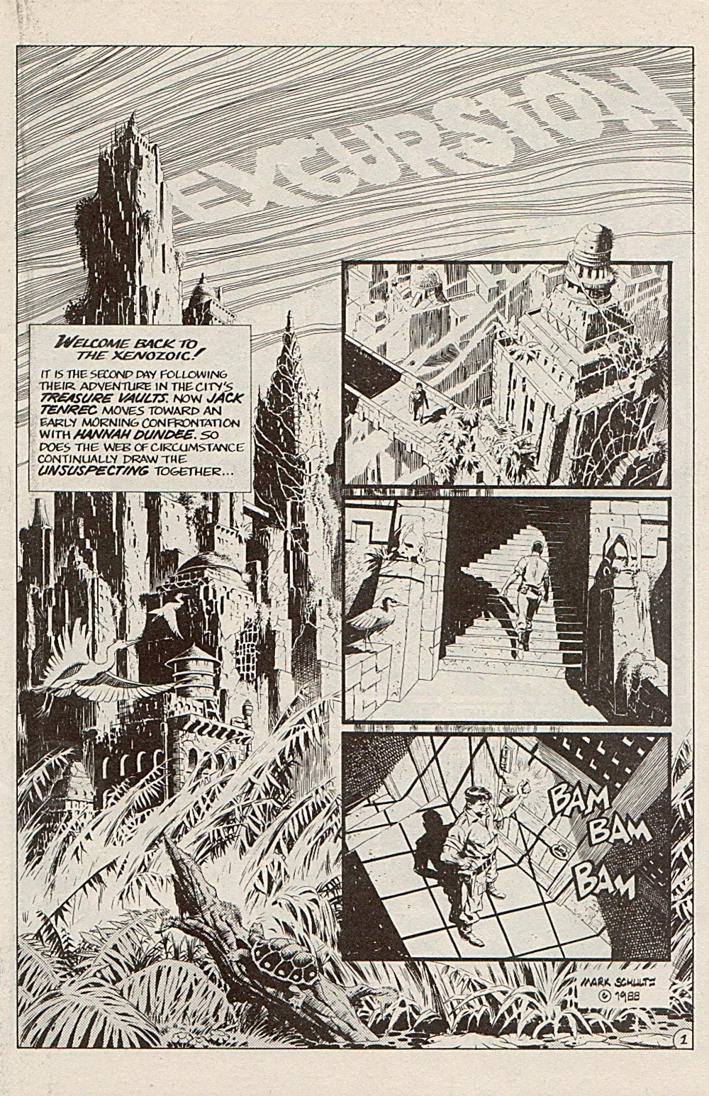 Read online Xenozoic Tales comic -  Issue #5 - 4