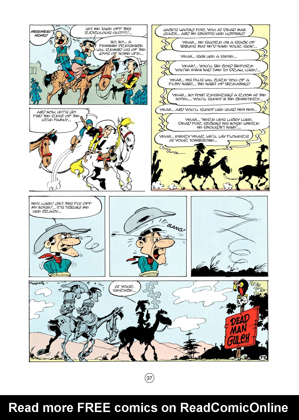 Read online A Lucky Luke Adventure comic -  Issue #28 - 38