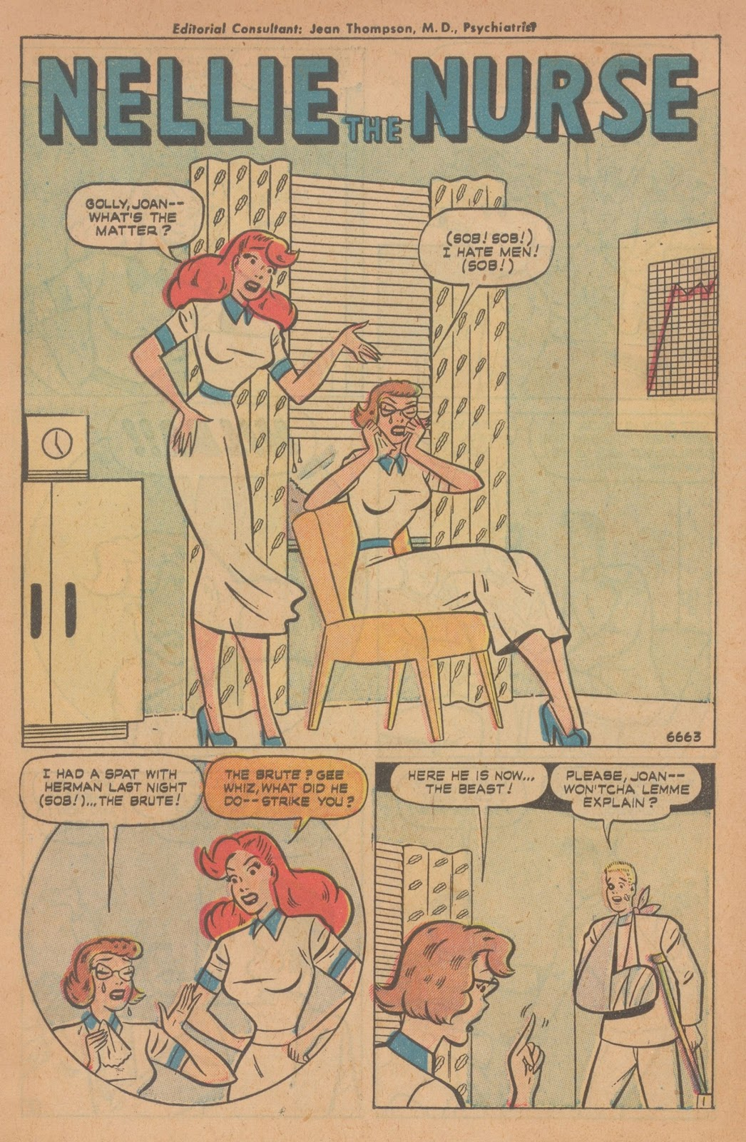 Read online Nellie The Nurse (1945) comic -  Issue #22 - 3