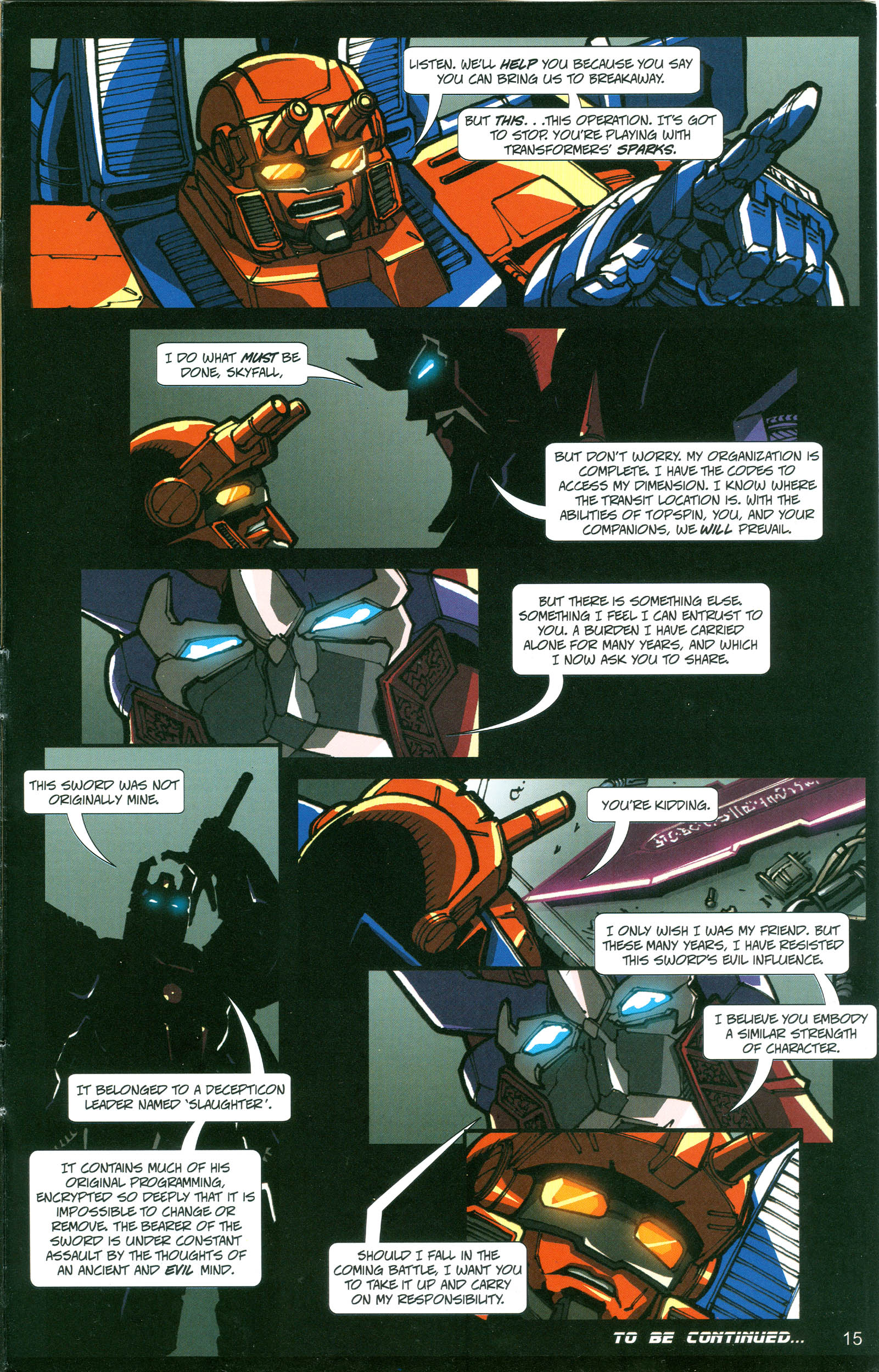 Read online Transformers: Collectors' Club comic -  Issue #21 - 15